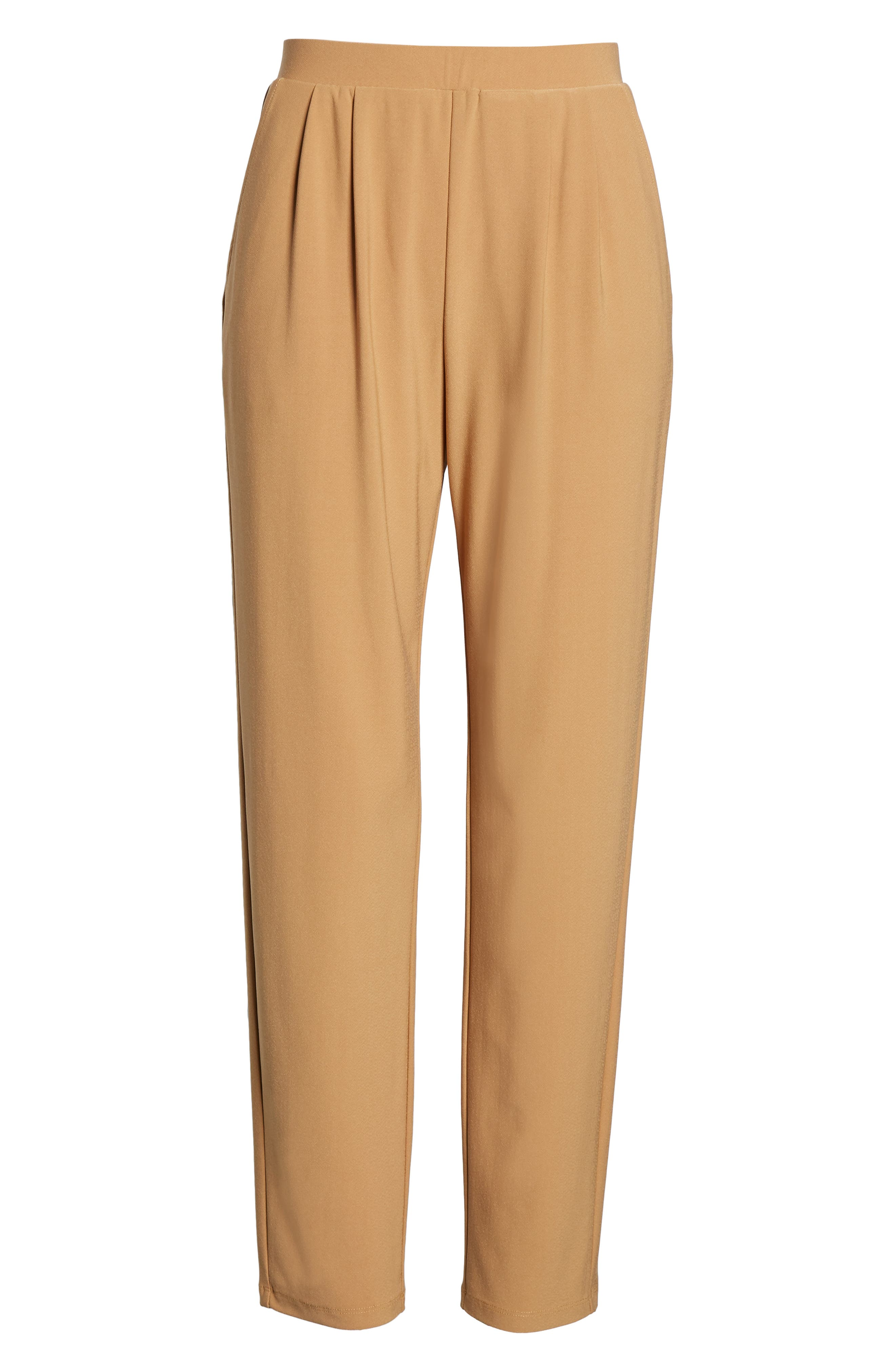LEITH, Pleat Front Trousers, Alternate thumbnail 7, color, TAN DALE