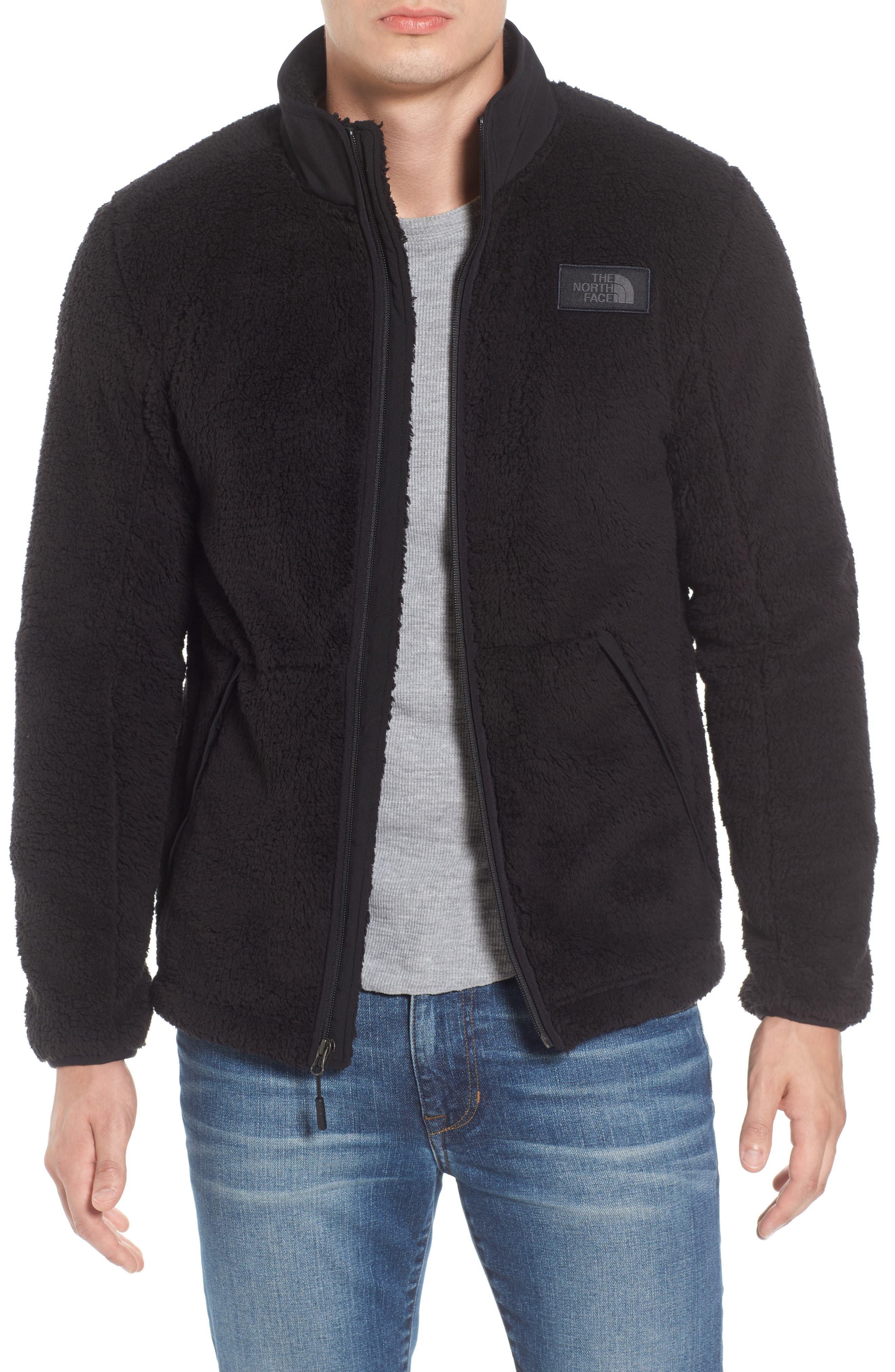 THE NORTH FACE, Campshire Zip Fleece Jacket, Main thumbnail 1, color, 001