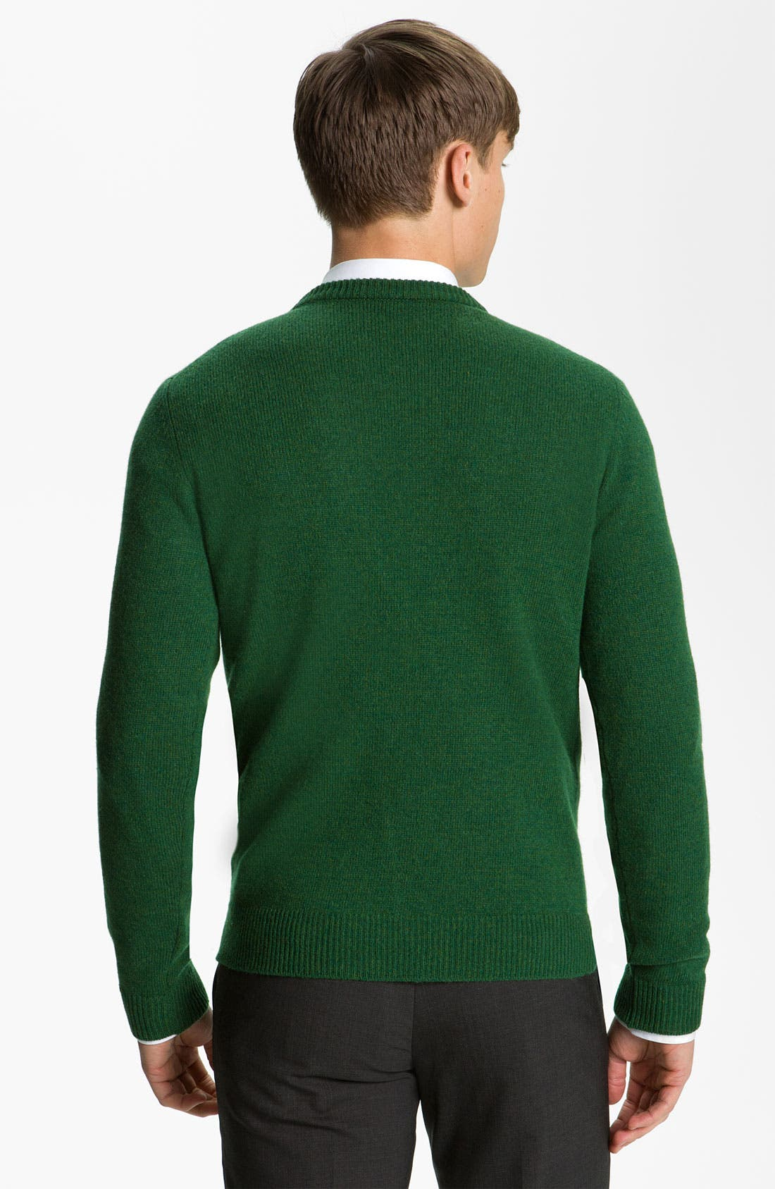 JIL SANDER, Crewneck Sweater, Alternate thumbnail 3, color, 306
