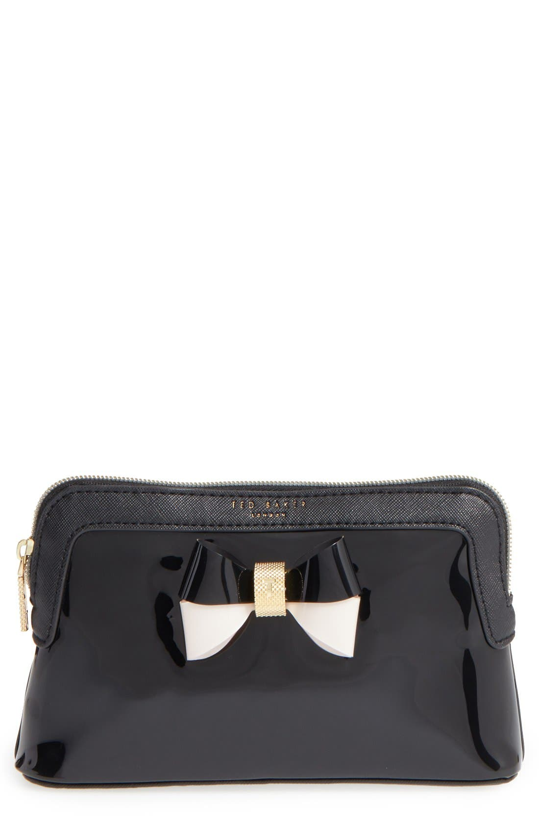 TED BAKER LONDON 'Rosamm' Cosmetics Case, Main, color, 001