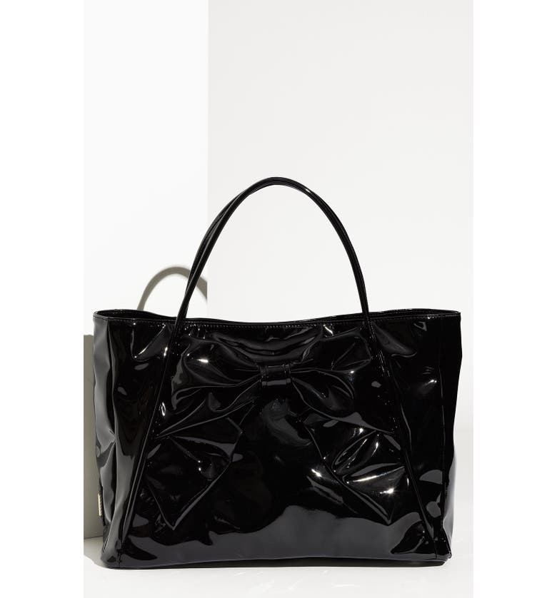 6dace9e08a9 VALENTINO 'Betty Lacca Bow - Small' Tote, Main, color, ...