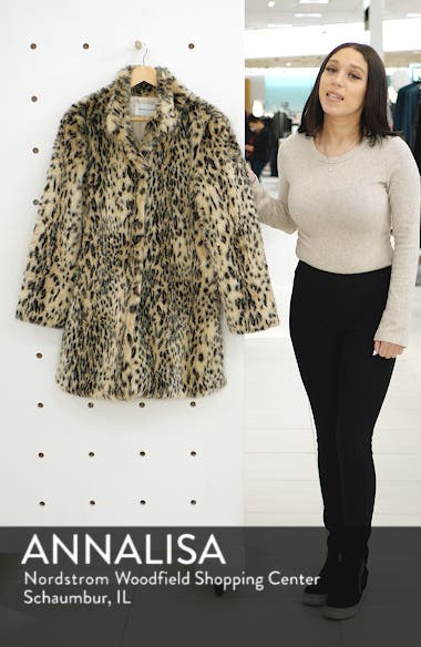 Leopard Faux Fur Coat, sales video thumbnail