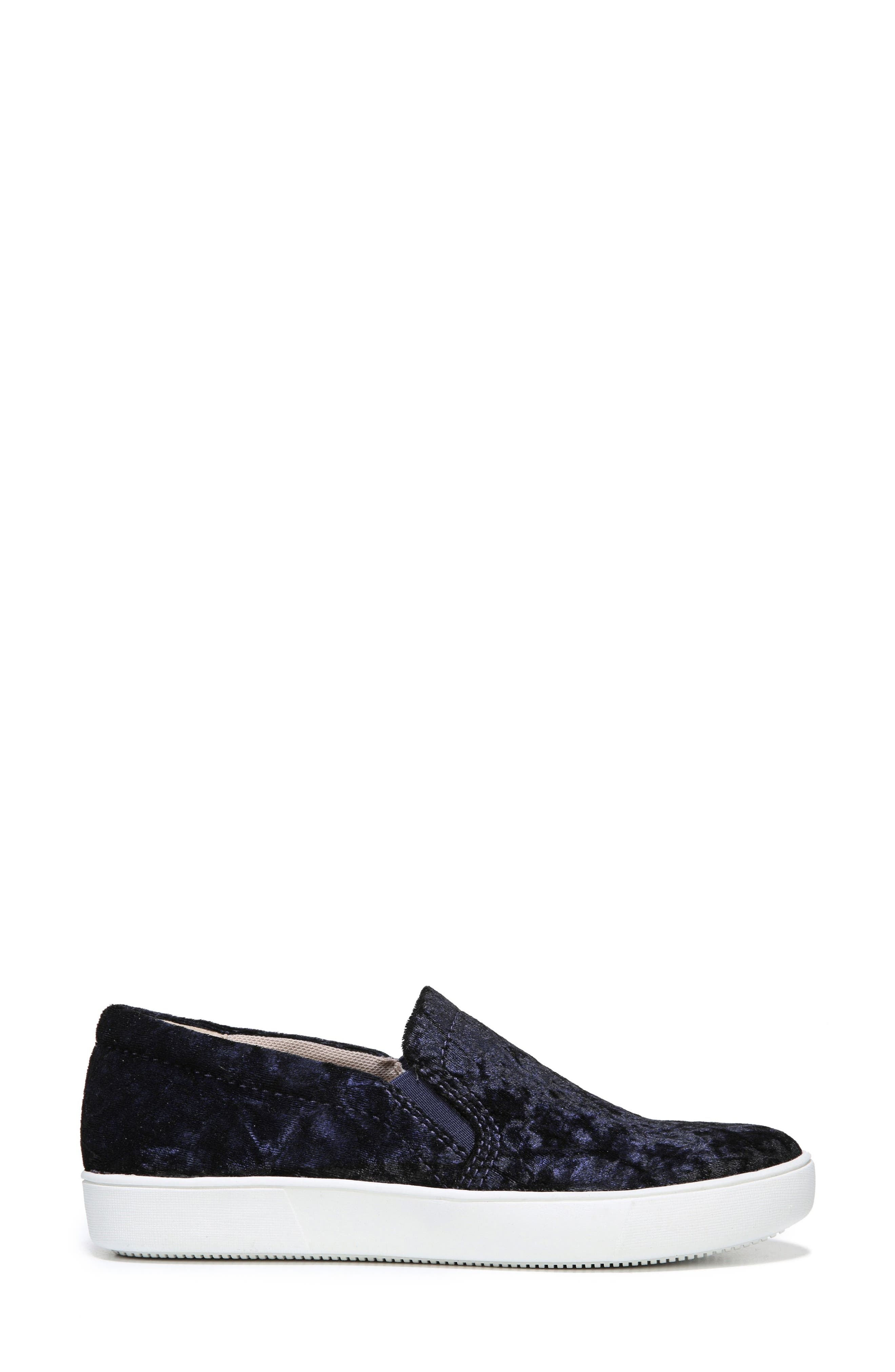 NATURALIZER, Marianne Slip-On Sneaker, Alternate thumbnail 3, color, NAVY VELVET