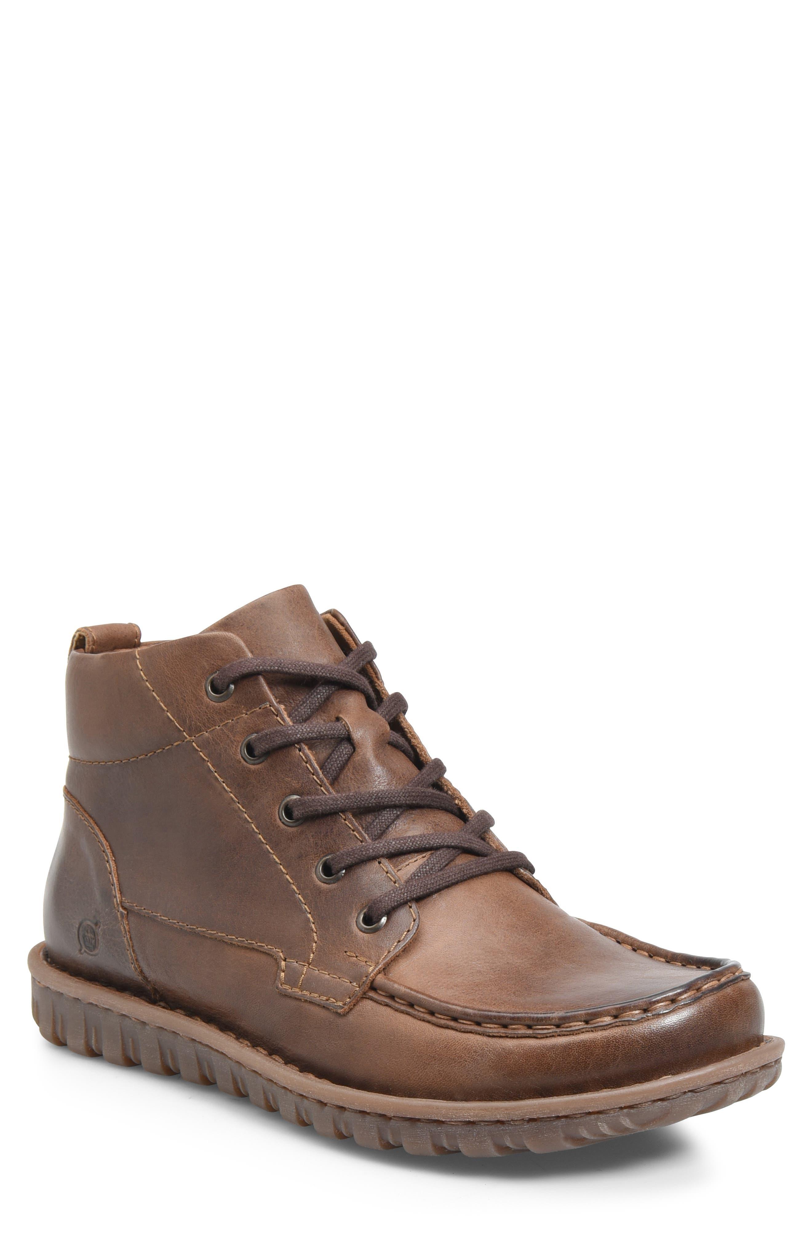 BØRN Gilden Moc Toe Boot, Main, color, BROWN LEATHER