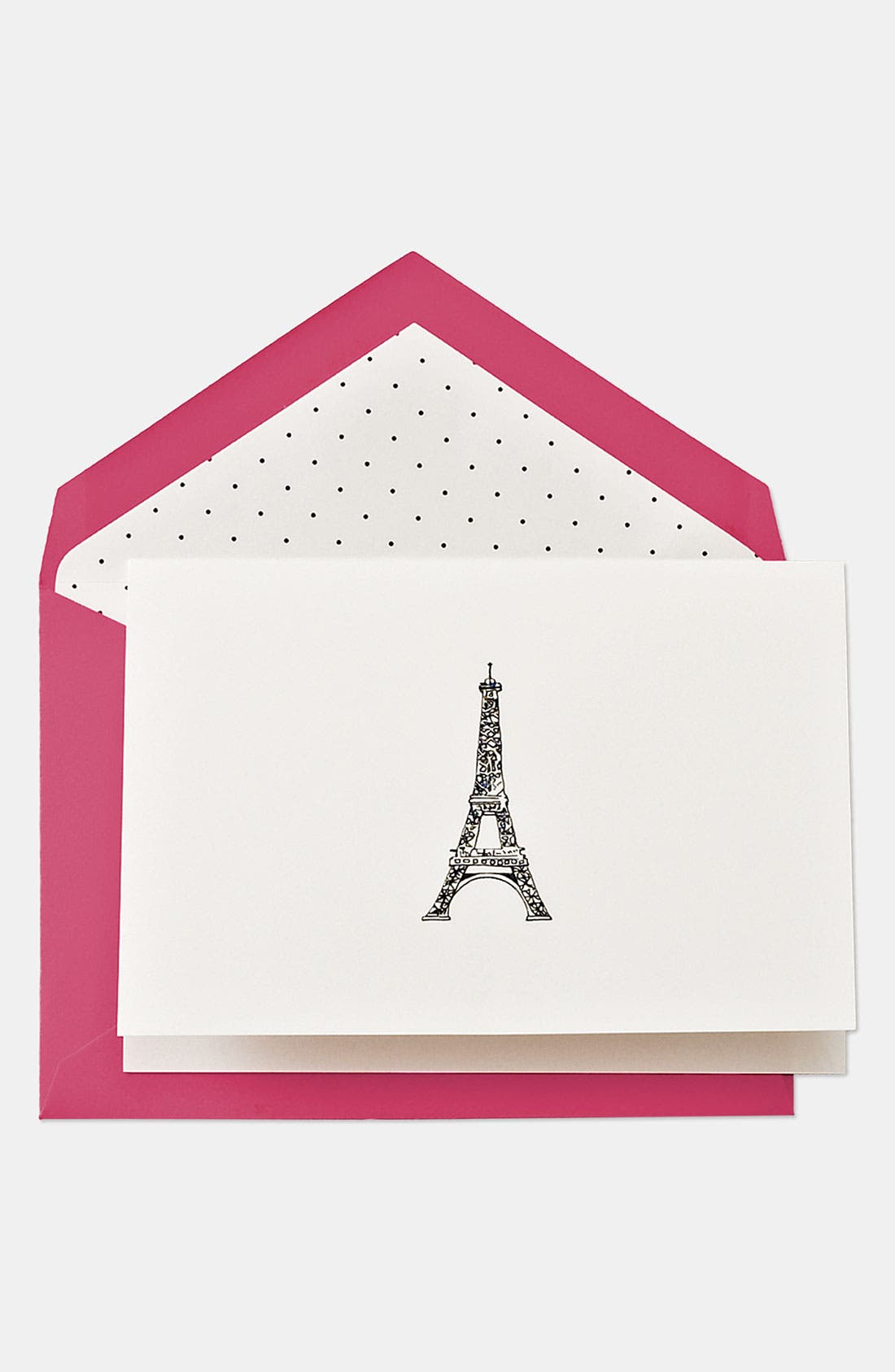 KATE SPADE NEW YORK Eiffel Tower Note Cards, Main, color, 650