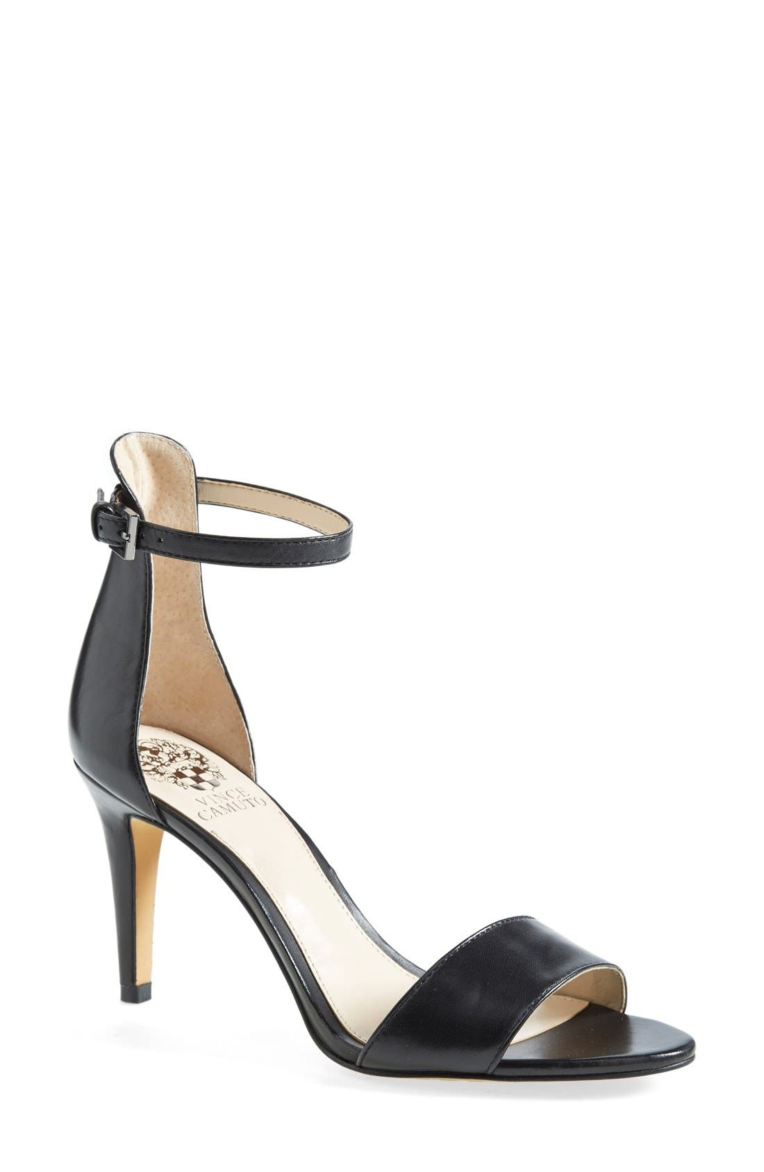 VINCE CAMUTO, 'Court' Ankle Strap Sandal, Main thumbnail 1, color, 001