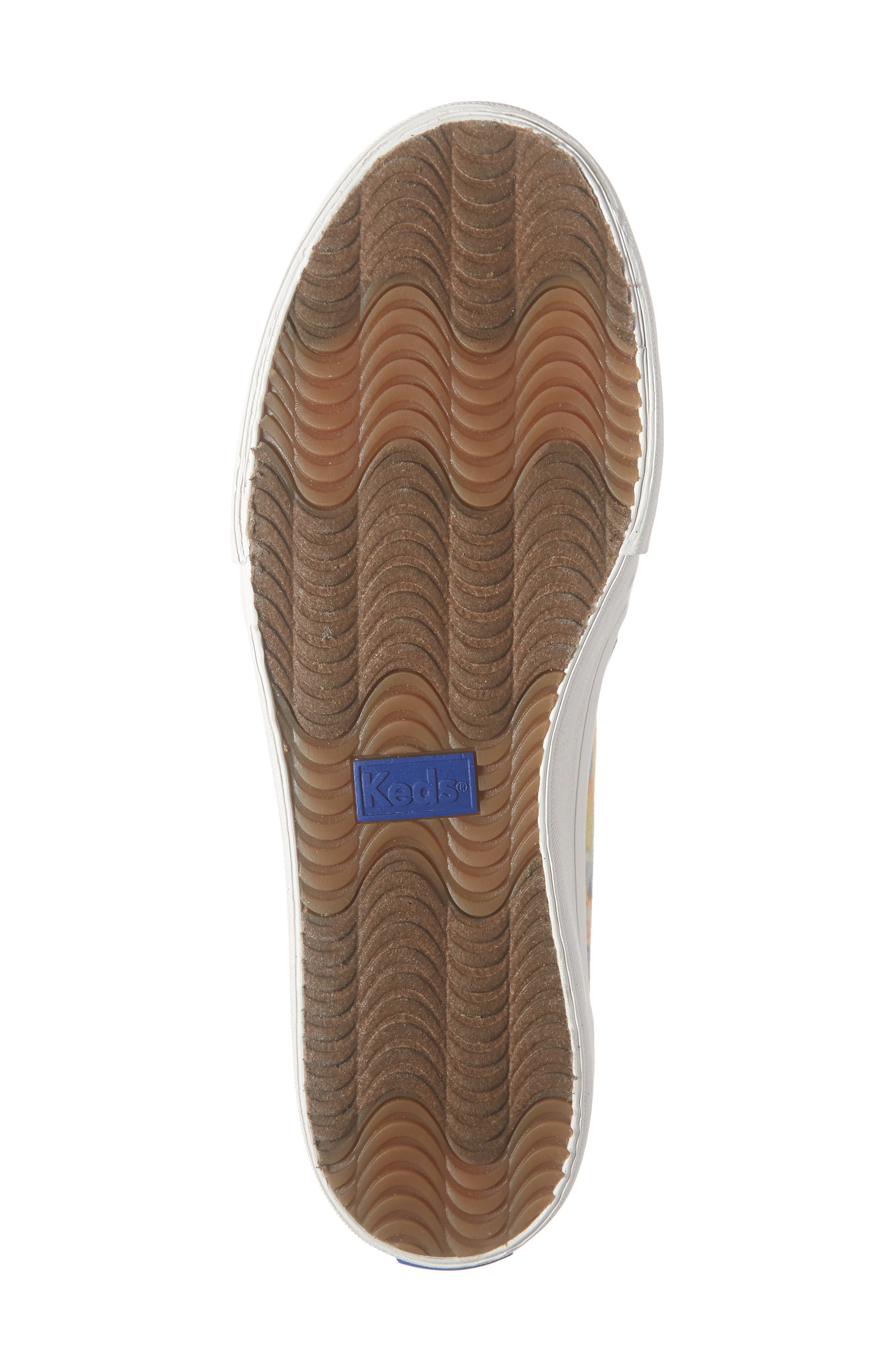 KEDS<SUP>®</SUP>, Double Decker Tie Dye Sneaker, Alternate thumbnail 6, color, PINK MULTI