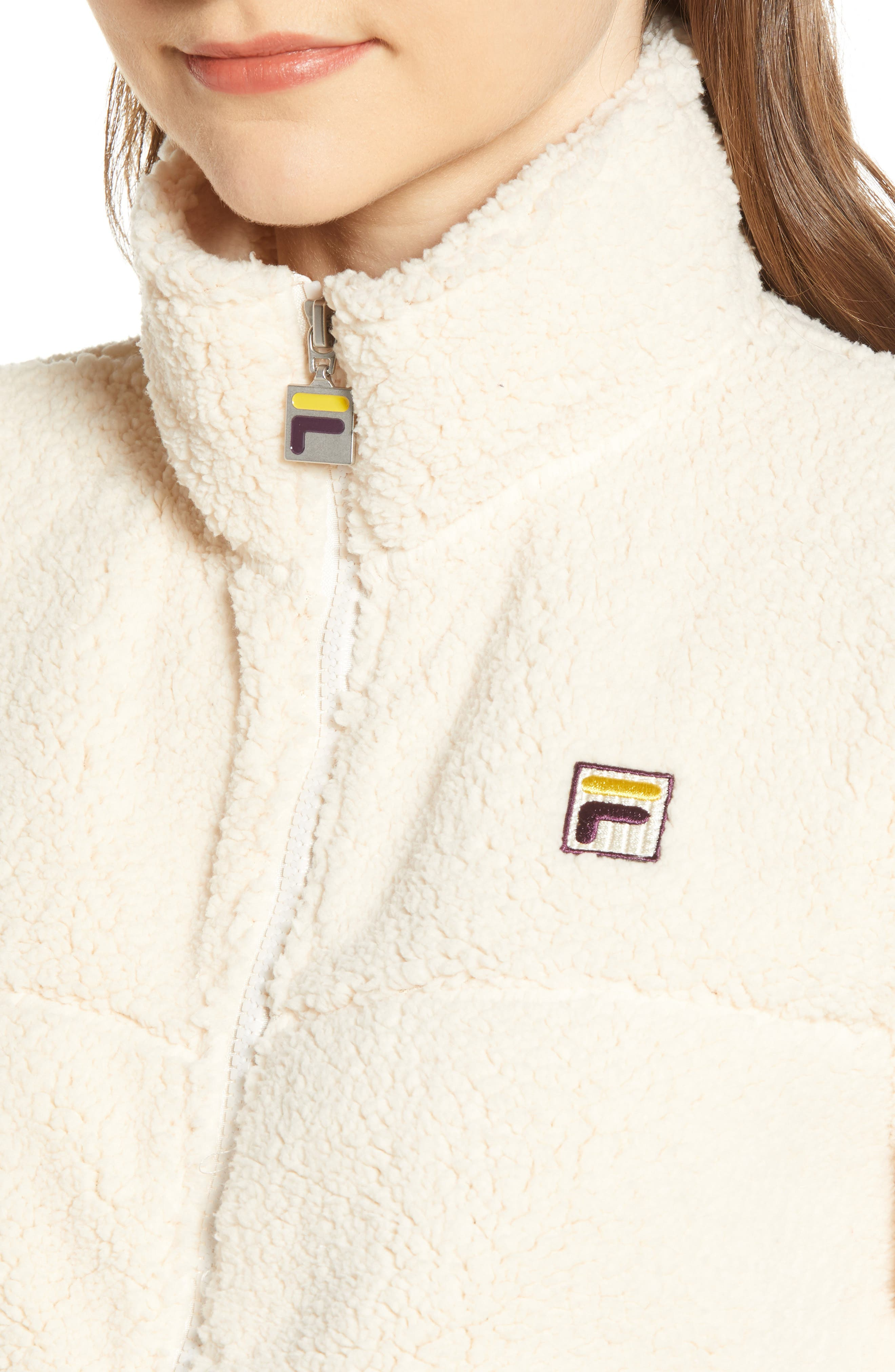 FILA, Islae Fleece Jacket, Alternate thumbnail 5, color, 250