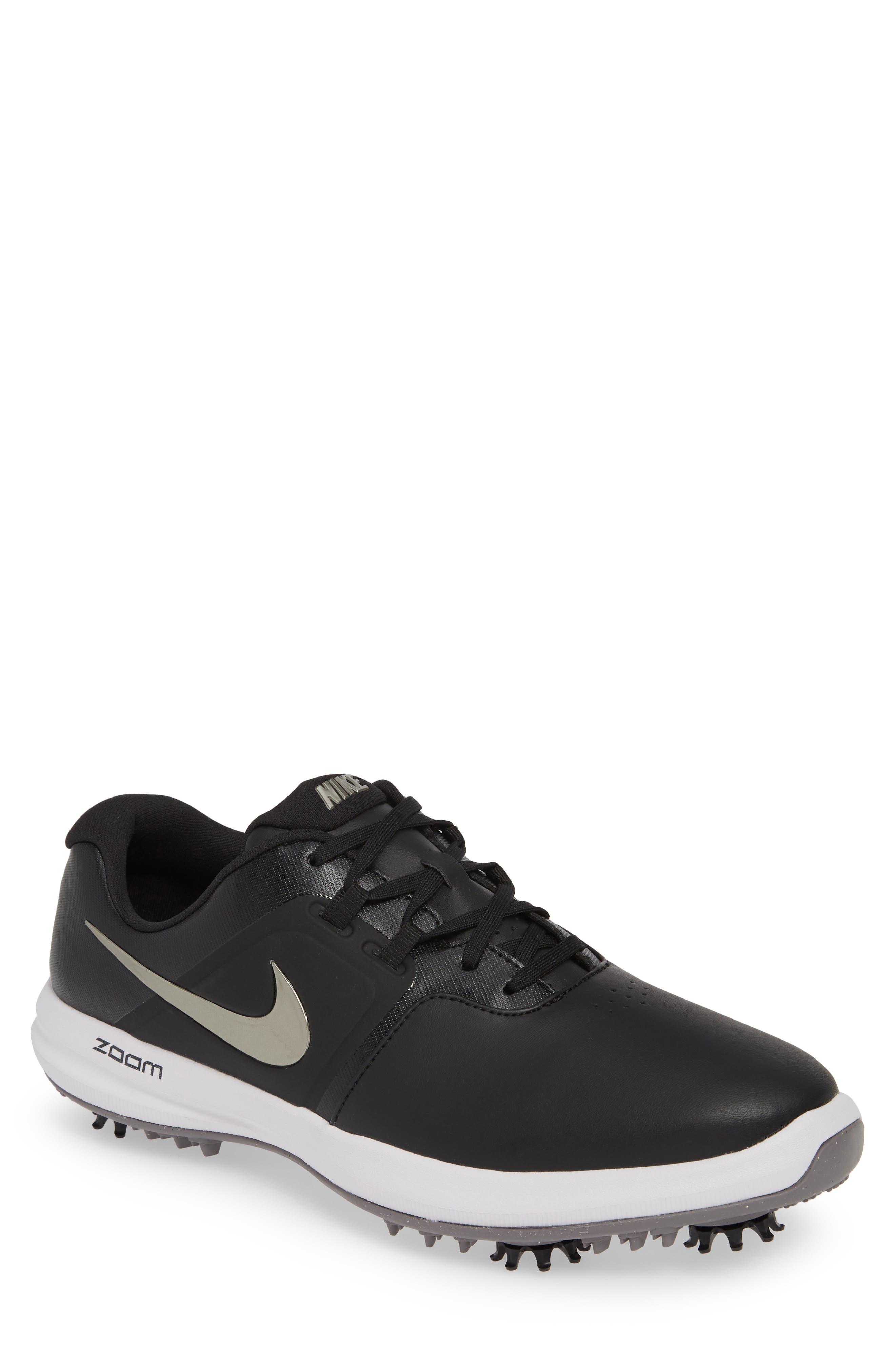 NIKE, Air Zoom Victory Golf Shoe, Main thumbnail 1, color, BLACK/ PEWTER/ VAST GREY