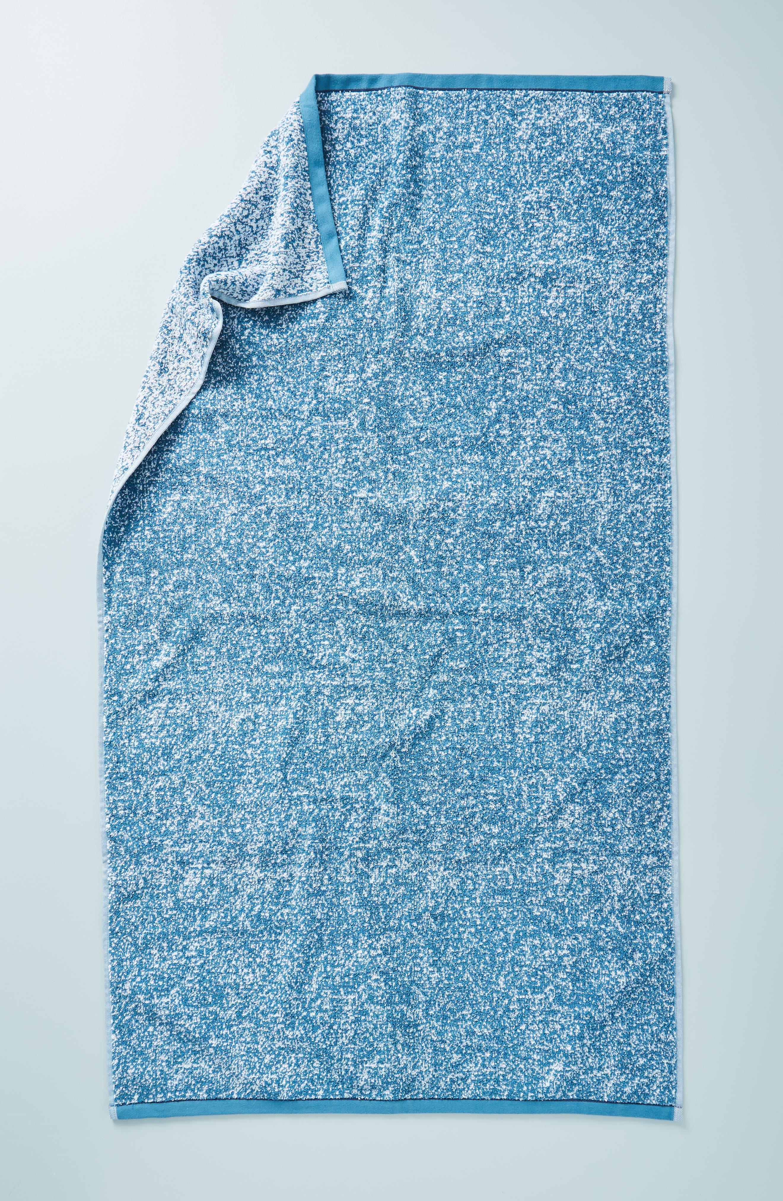 ANTHROPOLOGIE, Mairade Hand Towel, Main thumbnail 1, color, TEAL