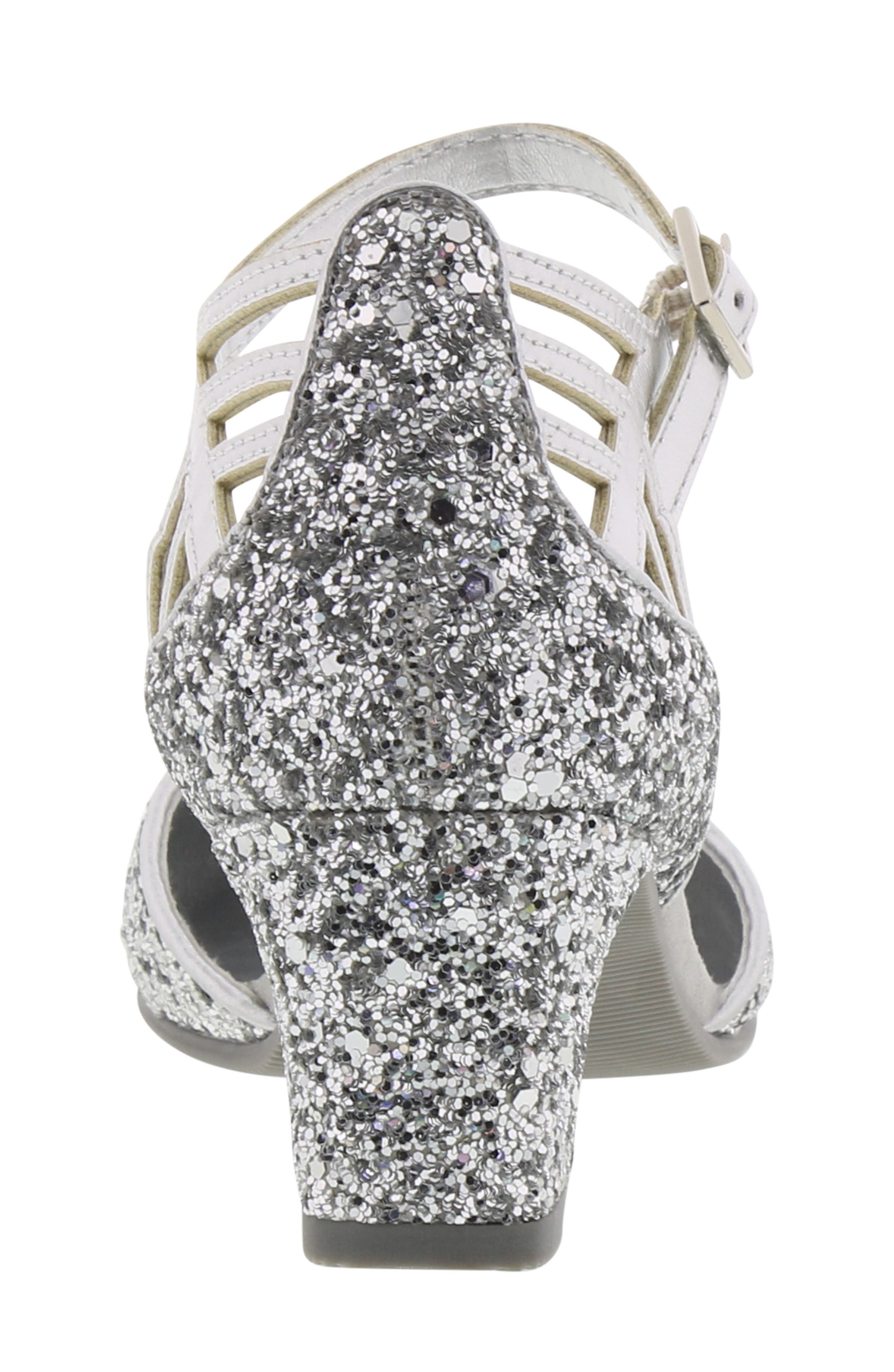 REACTION KENNETH COLE, Kenneth Cole New York Sarah Shine Pump, Alternate thumbnail 7, color, SILVER MULTI