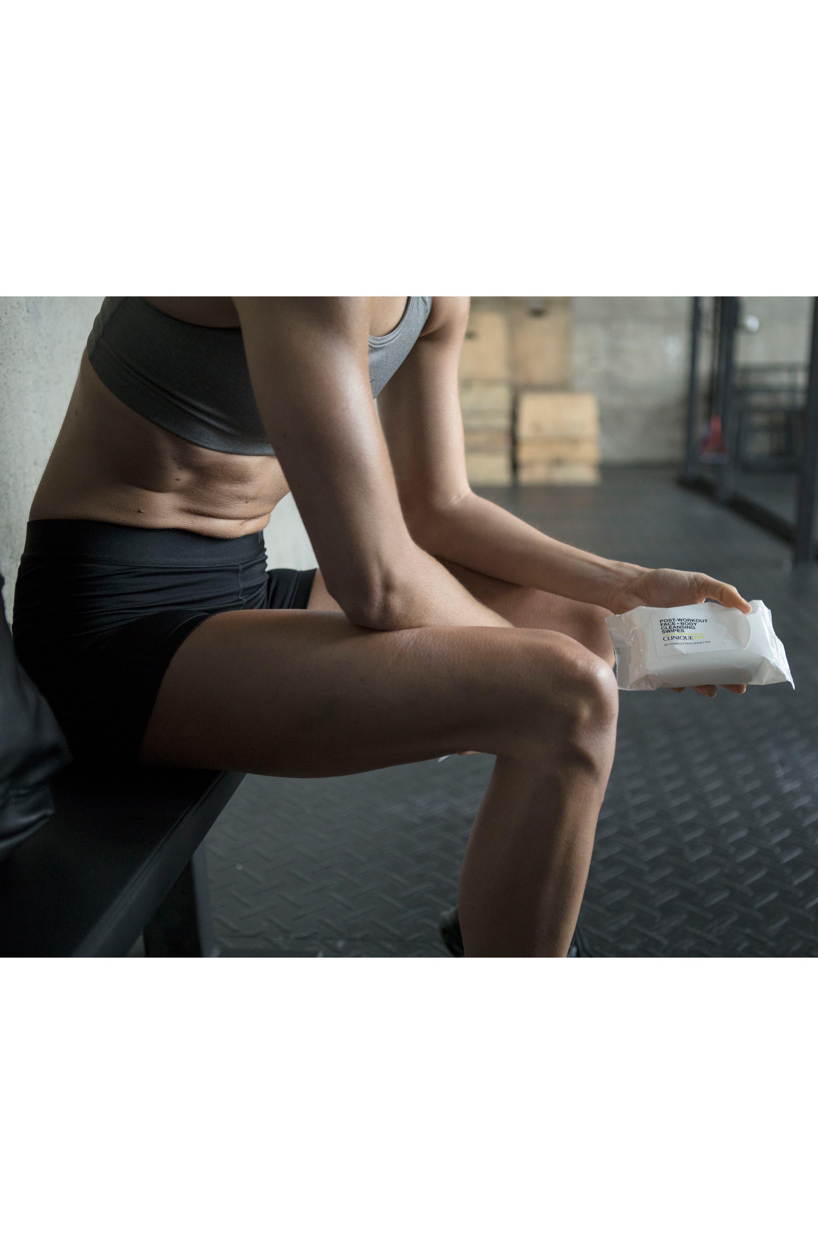 CLINIQUE, CliniqueFIT Post-Workout Face + Body Cleansing Swipes, Alternate thumbnail 9, color, NO COLOR