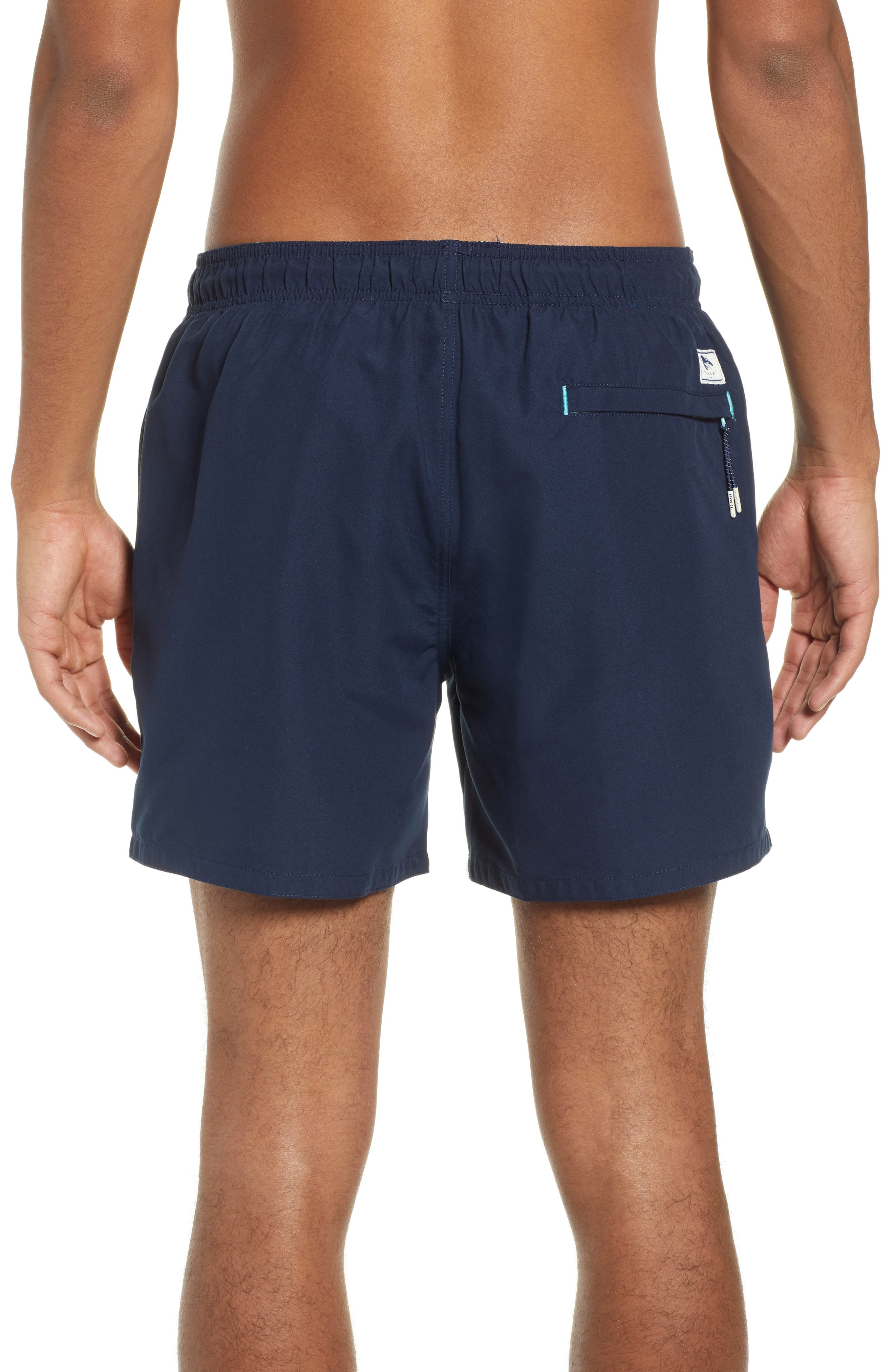TED BAKER LONDON, Plankton Slim Fit Swim Trunks, Alternate thumbnail 2, color, NAVY
