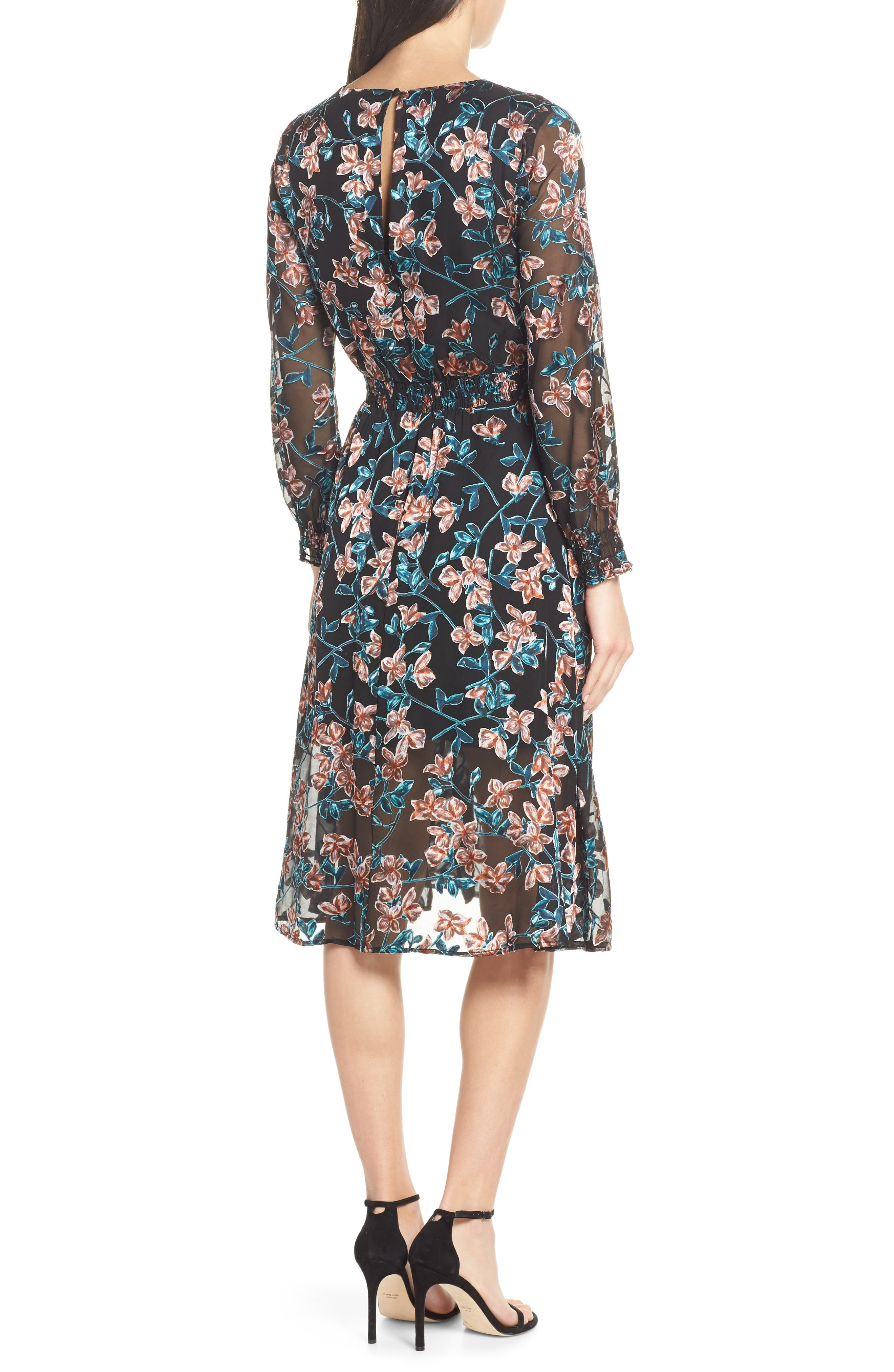 ALI & JAY, Treat Me Like a Lady Floral Dress, Alternate thumbnail 2, color, 001