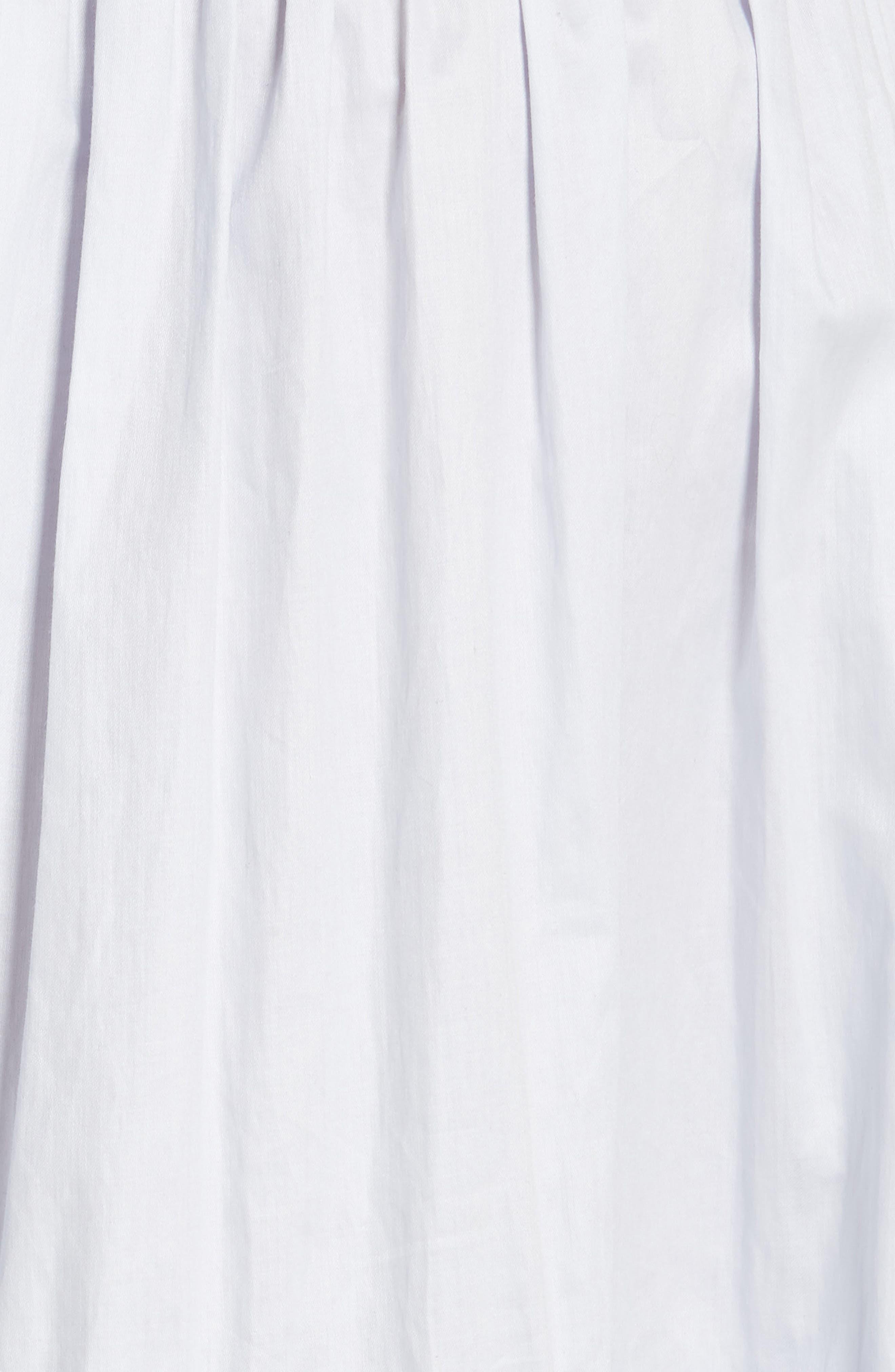 REBECCA TAYLOR, Smocked Sleeveless Cotton Top, Alternate thumbnail 5, color, 458