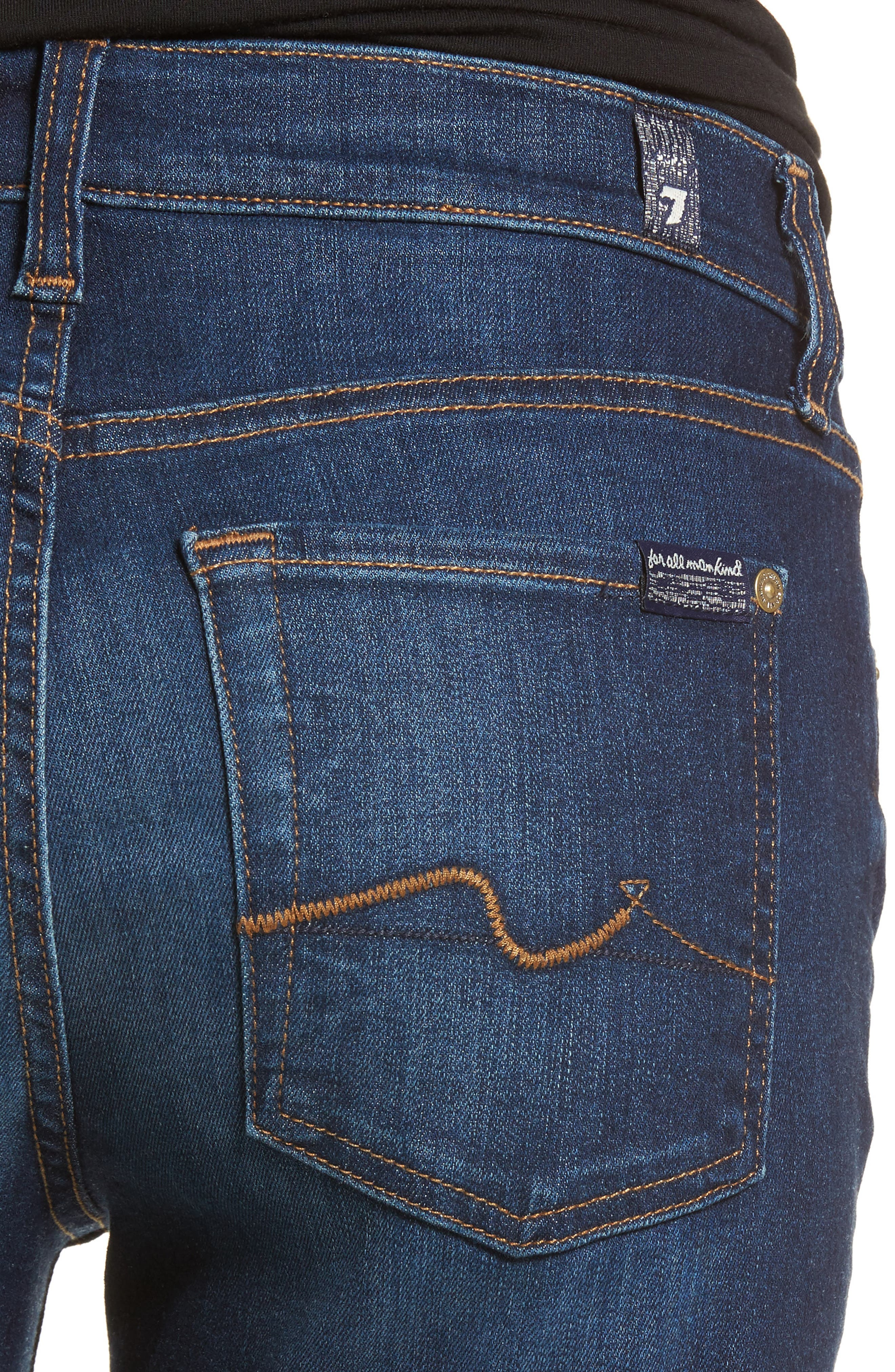 7 FOR ALL MANKIND<SUP>®</SUP>, b(air) Tailorless Iconic Bootcut Jeans, Alternate thumbnail 5, color, MORENO
