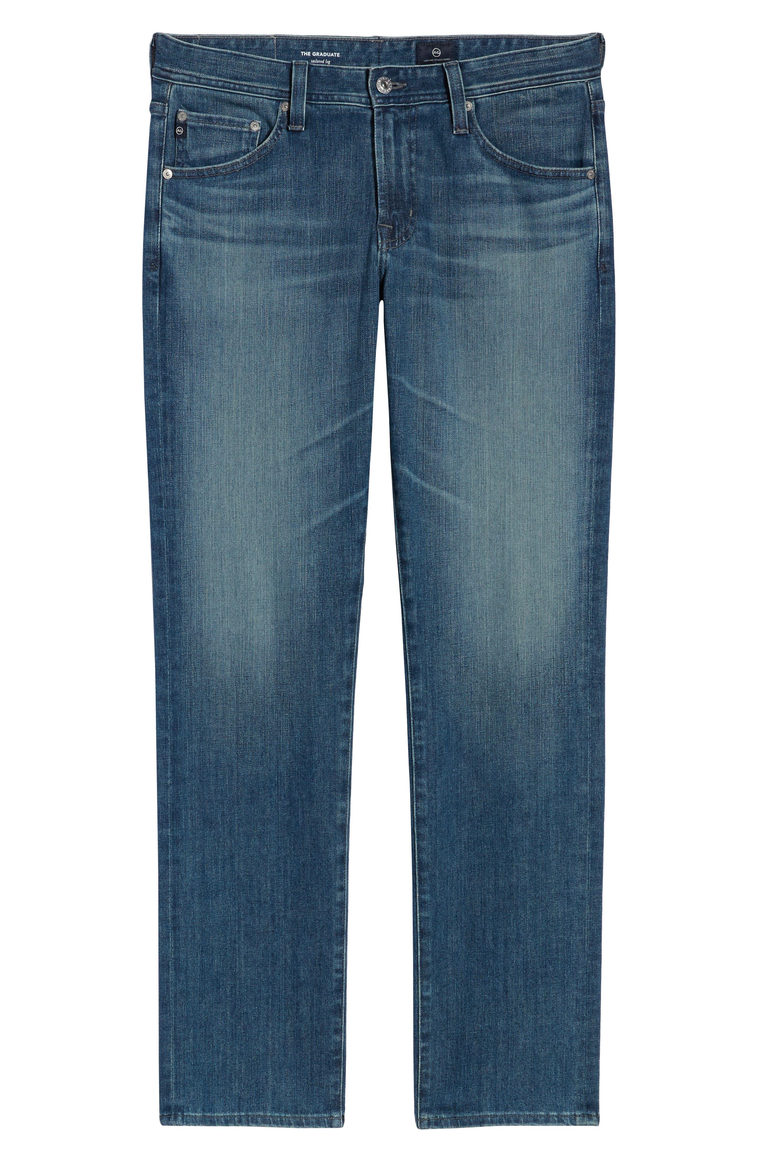 AG, Graduate Slim Straight Leg Jeans, Alternate thumbnail 7, color, APERTURE