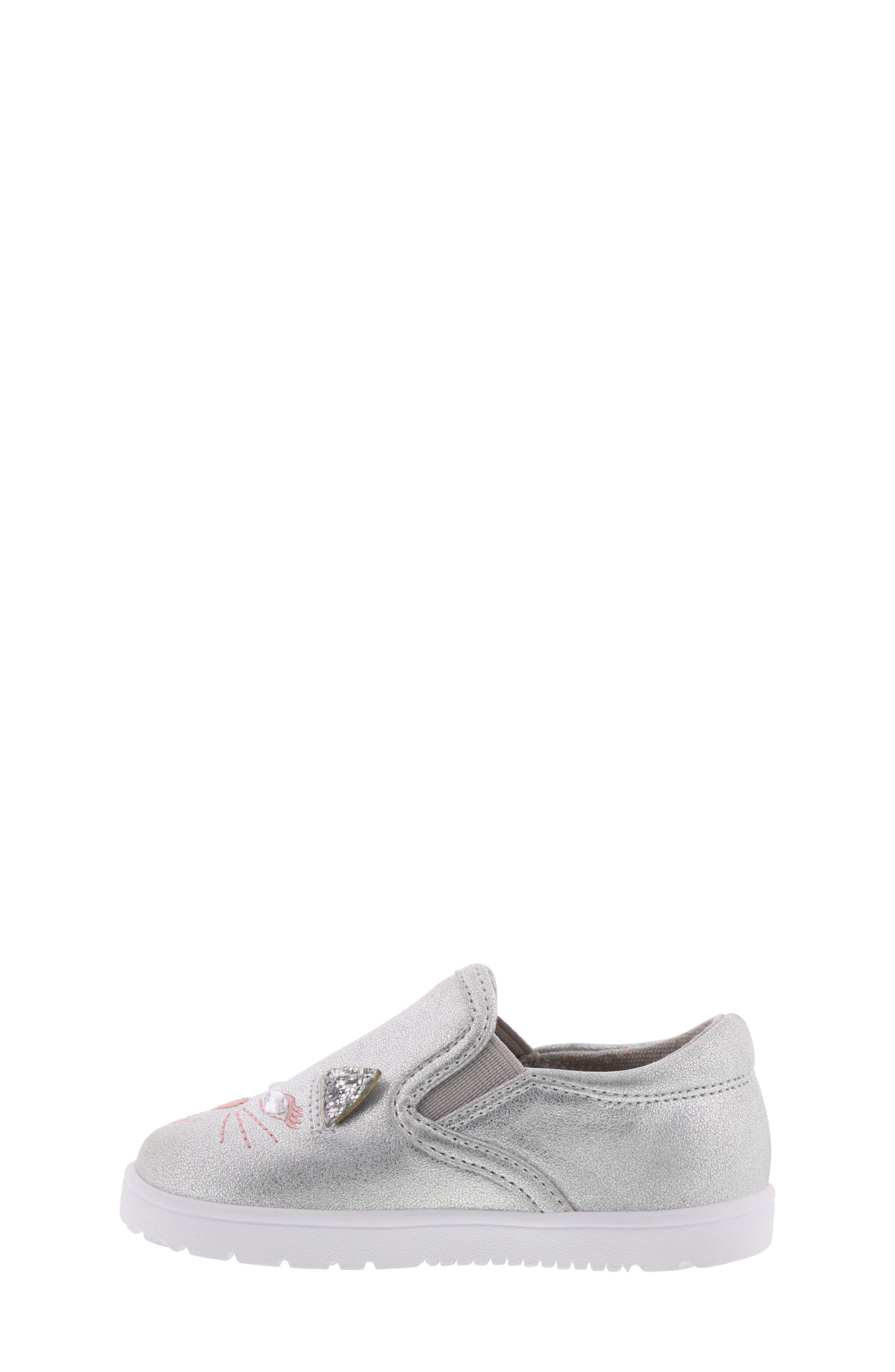 BØRN, Bailey Jaslyna Slip-On Glitter Sneaker, Alternate thumbnail 7, color, SILVER