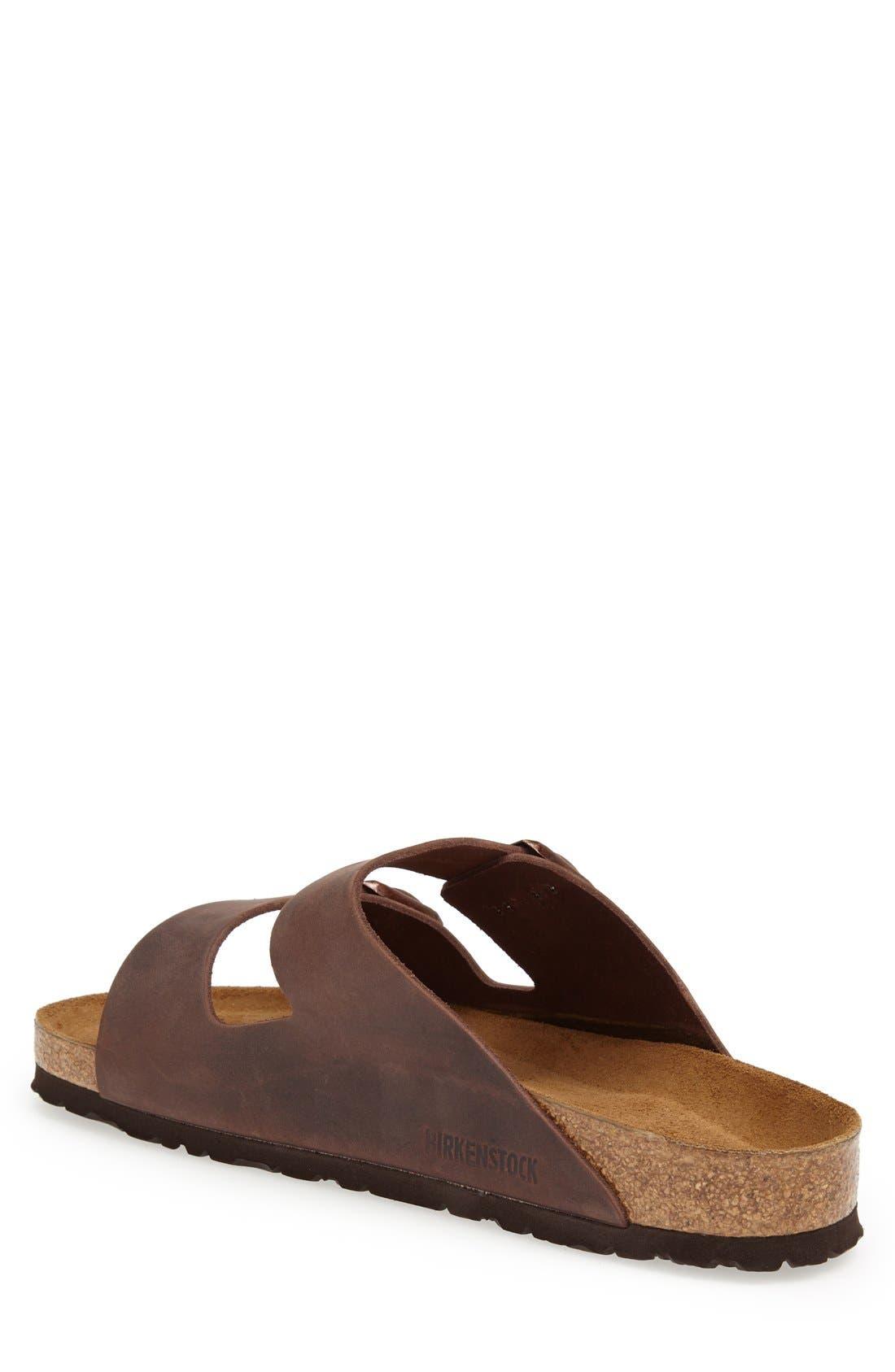 BIRKENSTOCK, Arizona Soft Slide Sandal, Alternate thumbnail 8, color, HABANA