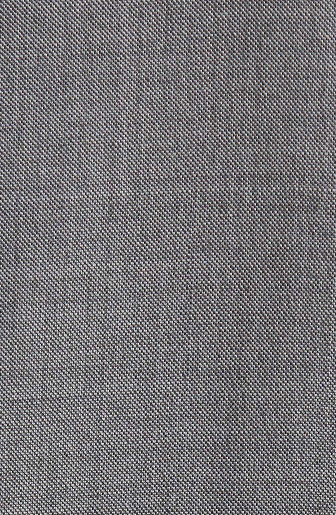 PETER MILLAR, Classic Fit Solid Wool Suit, Alternate thumbnail 9, color, CHARCOAL