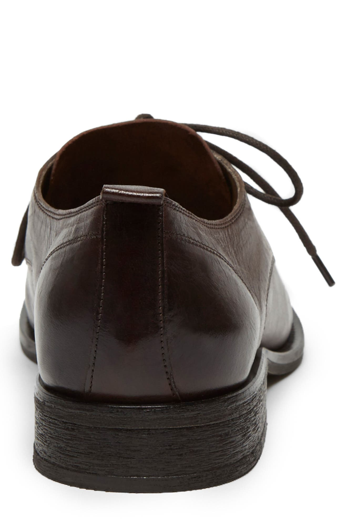 KENNETH COLE NEW YORK, Indio Plain Toe Derby, Alternate thumbnail 3, color, BROWN LEATHER