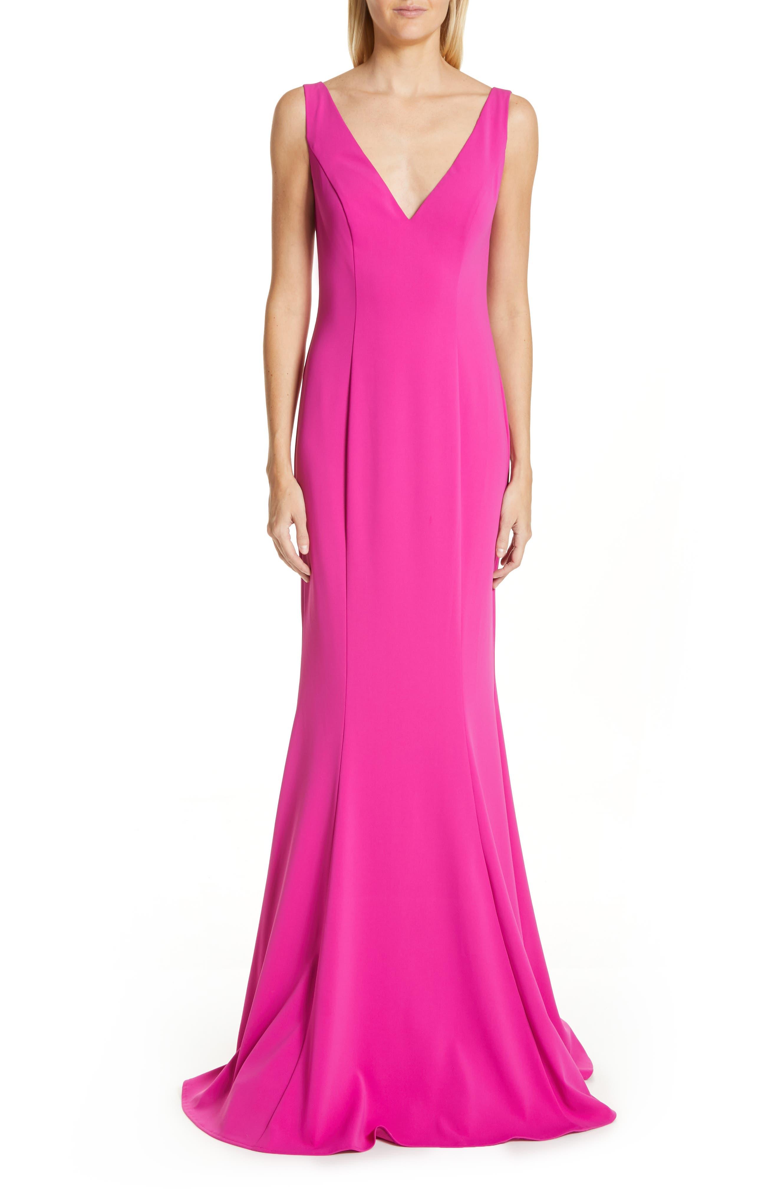 Badgley Mischka Odessa Trumpet Gown, Pink