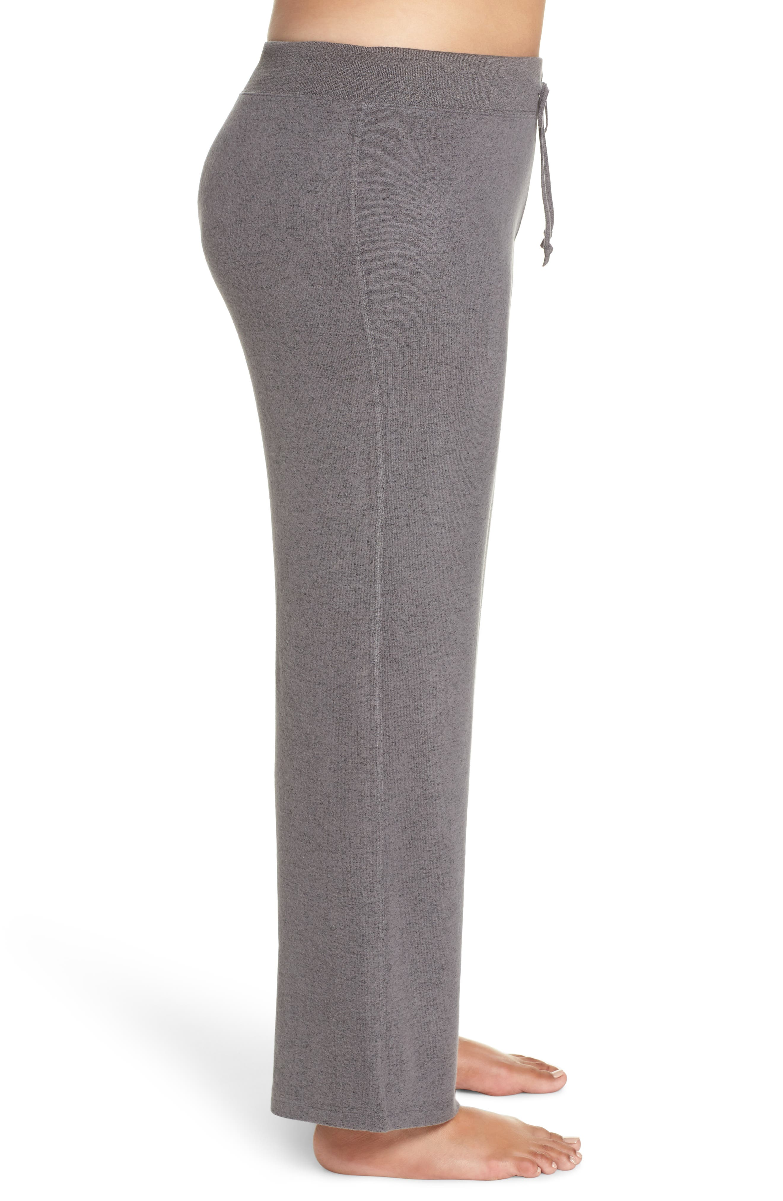 MAKE + MODEL, 'Best Boyfriend' Brushed Hacci Lounge Pants, Alternate thumbnail 3, color, GREY PAVEMENT MARL