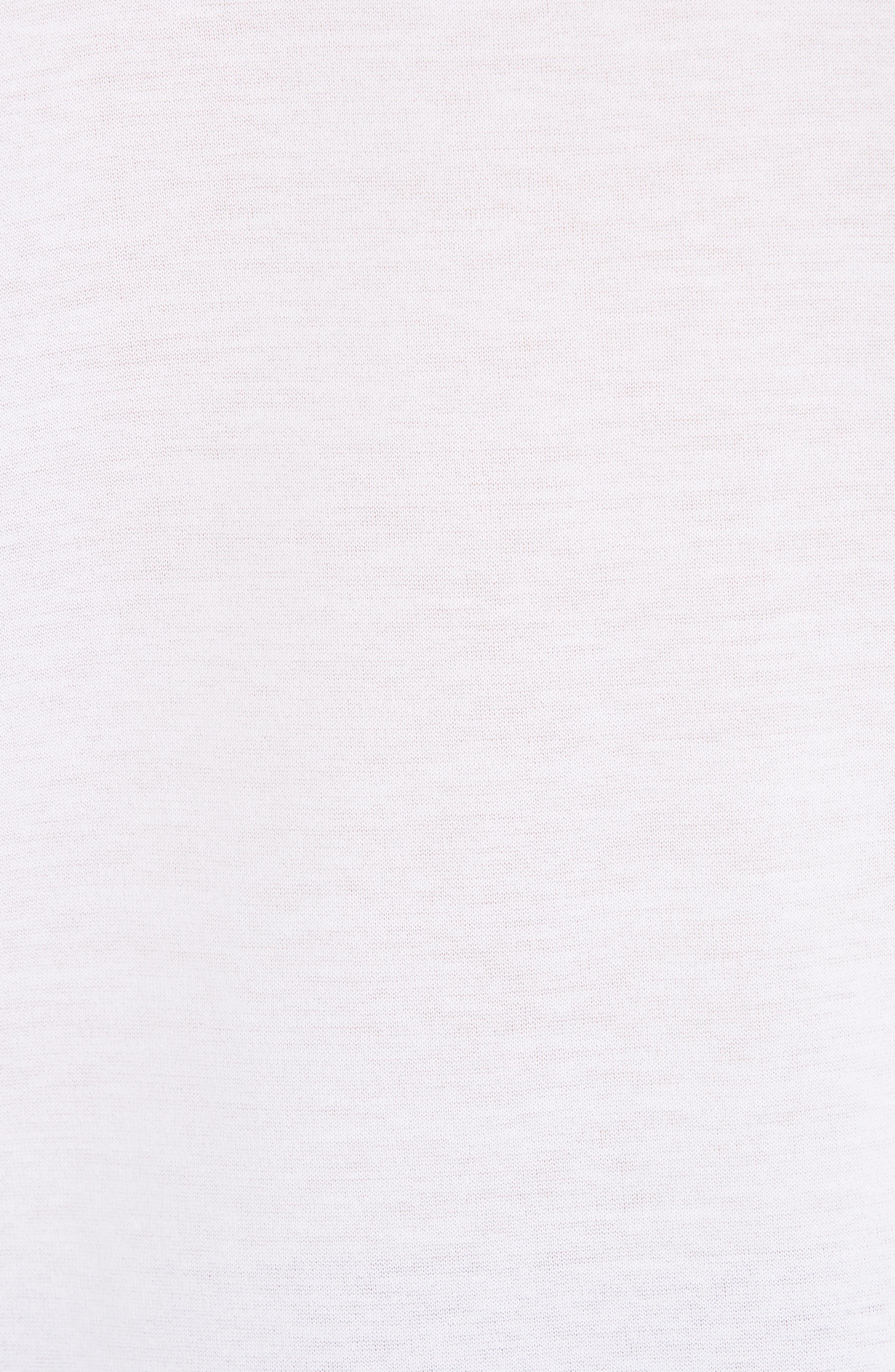 FABIANA FILIPPI, Chain Trim Jersey Top, Alternate thumbnail 5, color, WHITE