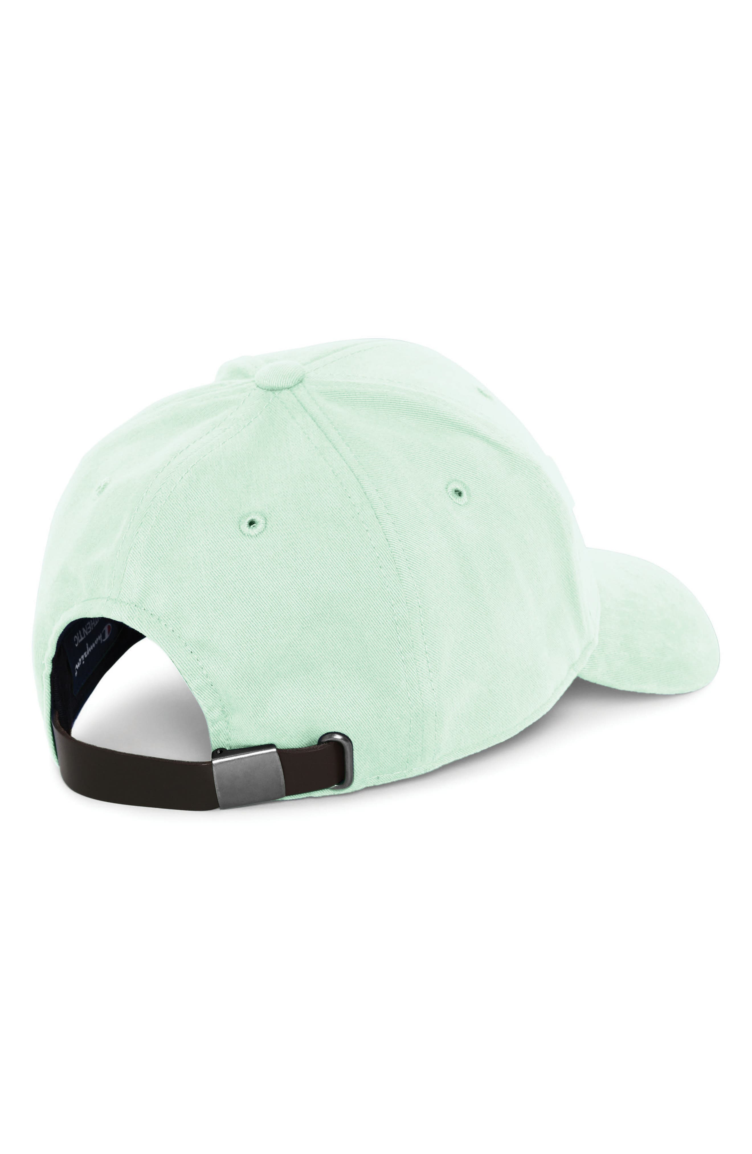 CHAMPION, Classic Script Baseball Cap, Alternate thumbnail 2, color, WATERFALL GREEN