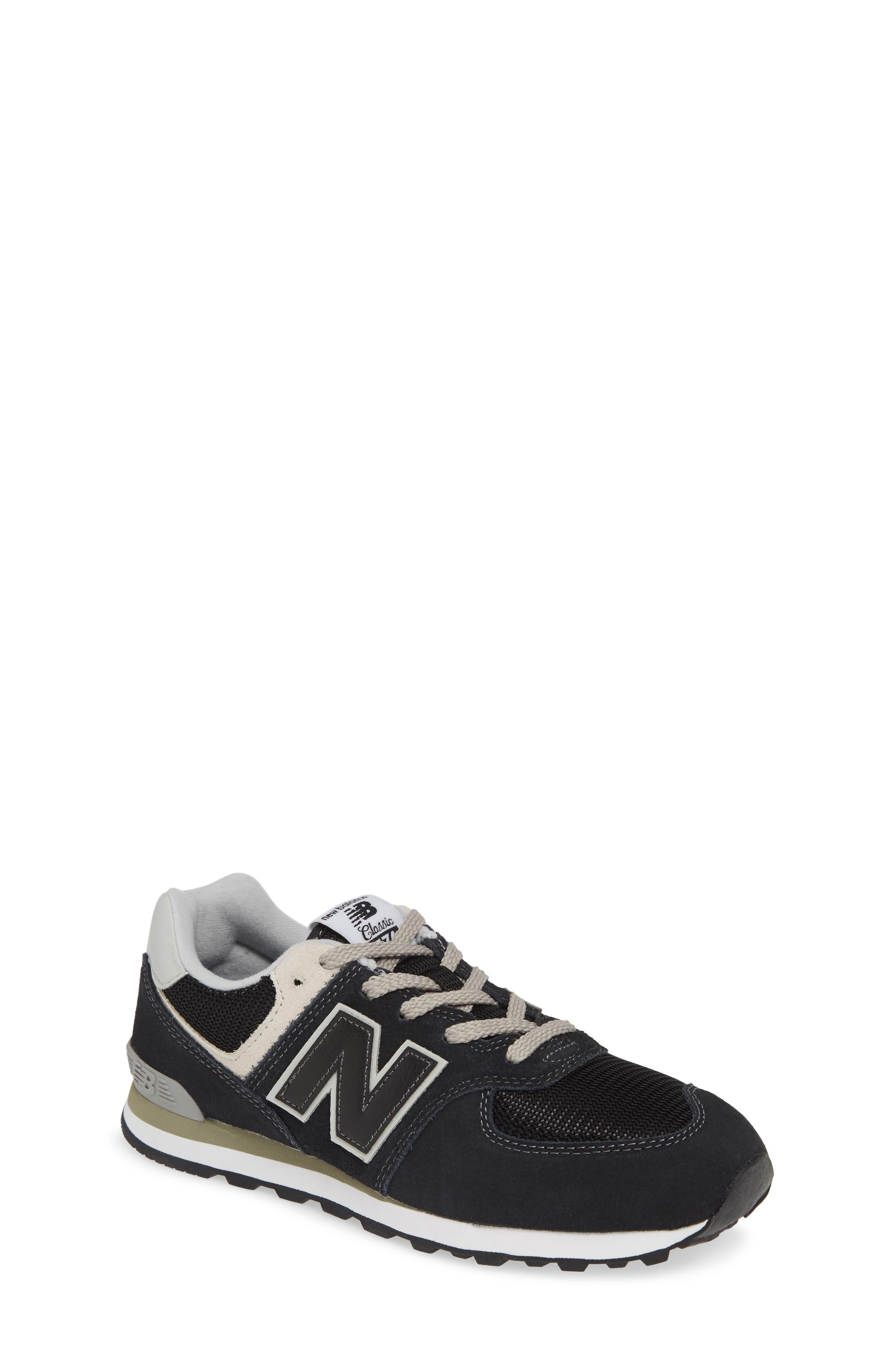 Kids New Balance 574 Serpent Luxe Sneaker Size 45 W  Black