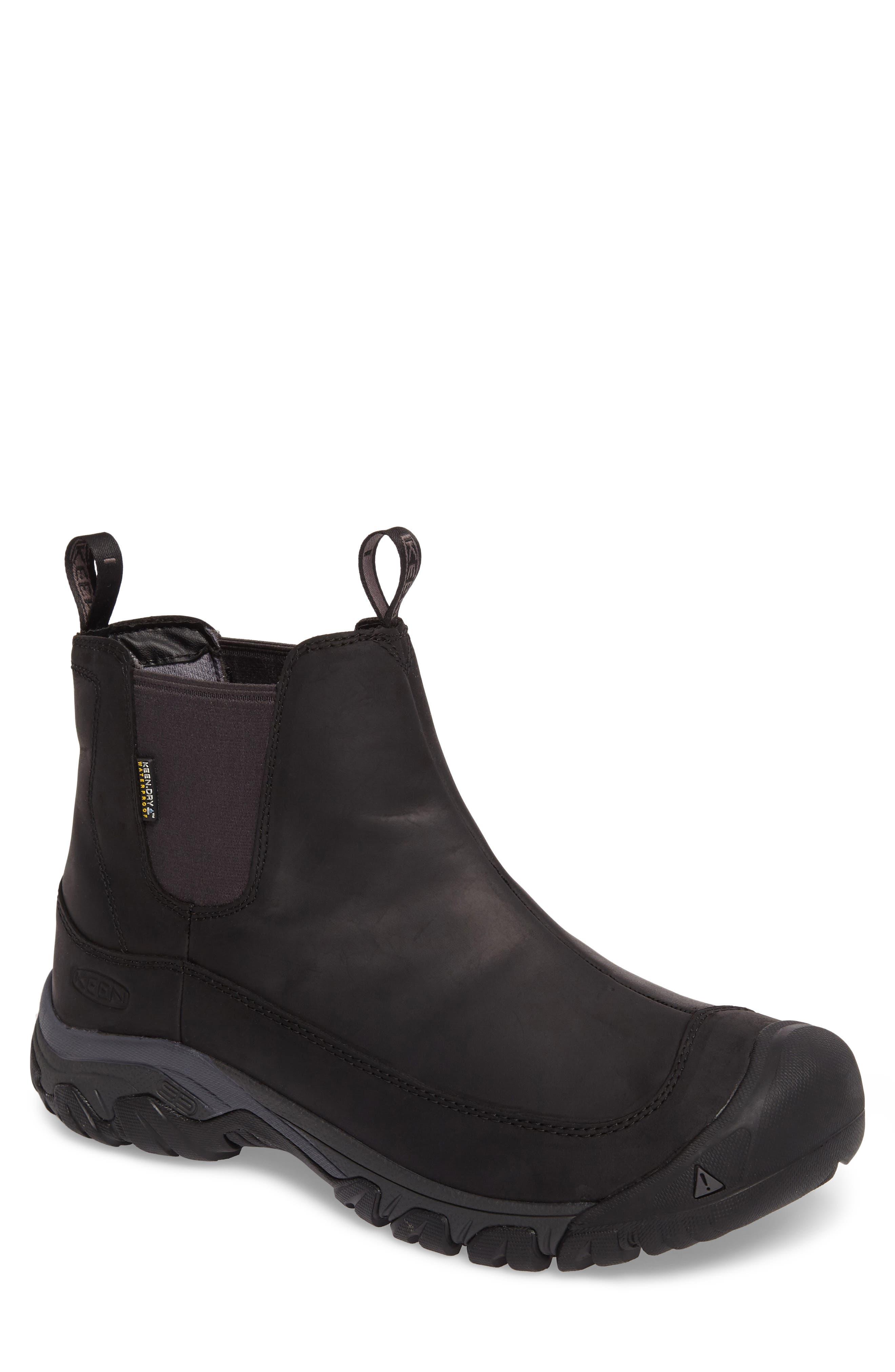 KEEN, Anchorage II Waterproof Chelsea Boot, Main thumbnail 1, color, 001