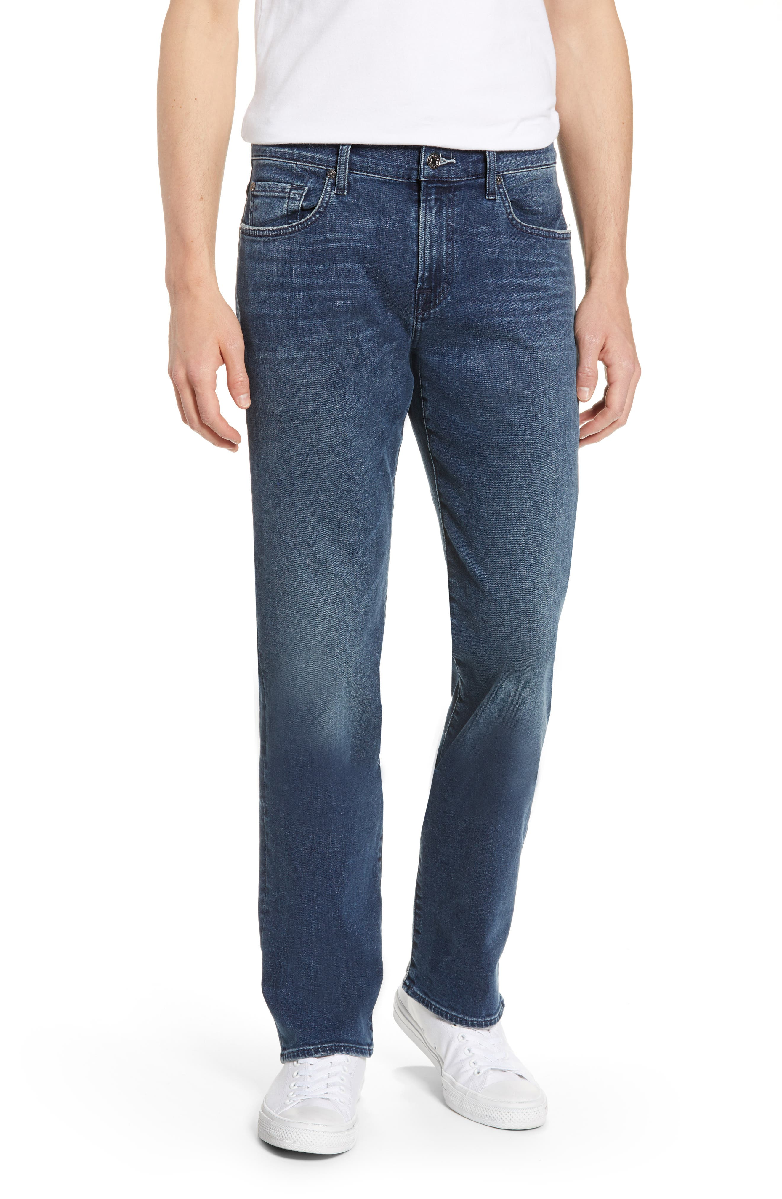 7 FOR ALL MANKIND<SUP>®</SUP>, Standard Straight Leg Jeans, Main thumbnail 1, color, INVINCIBLE