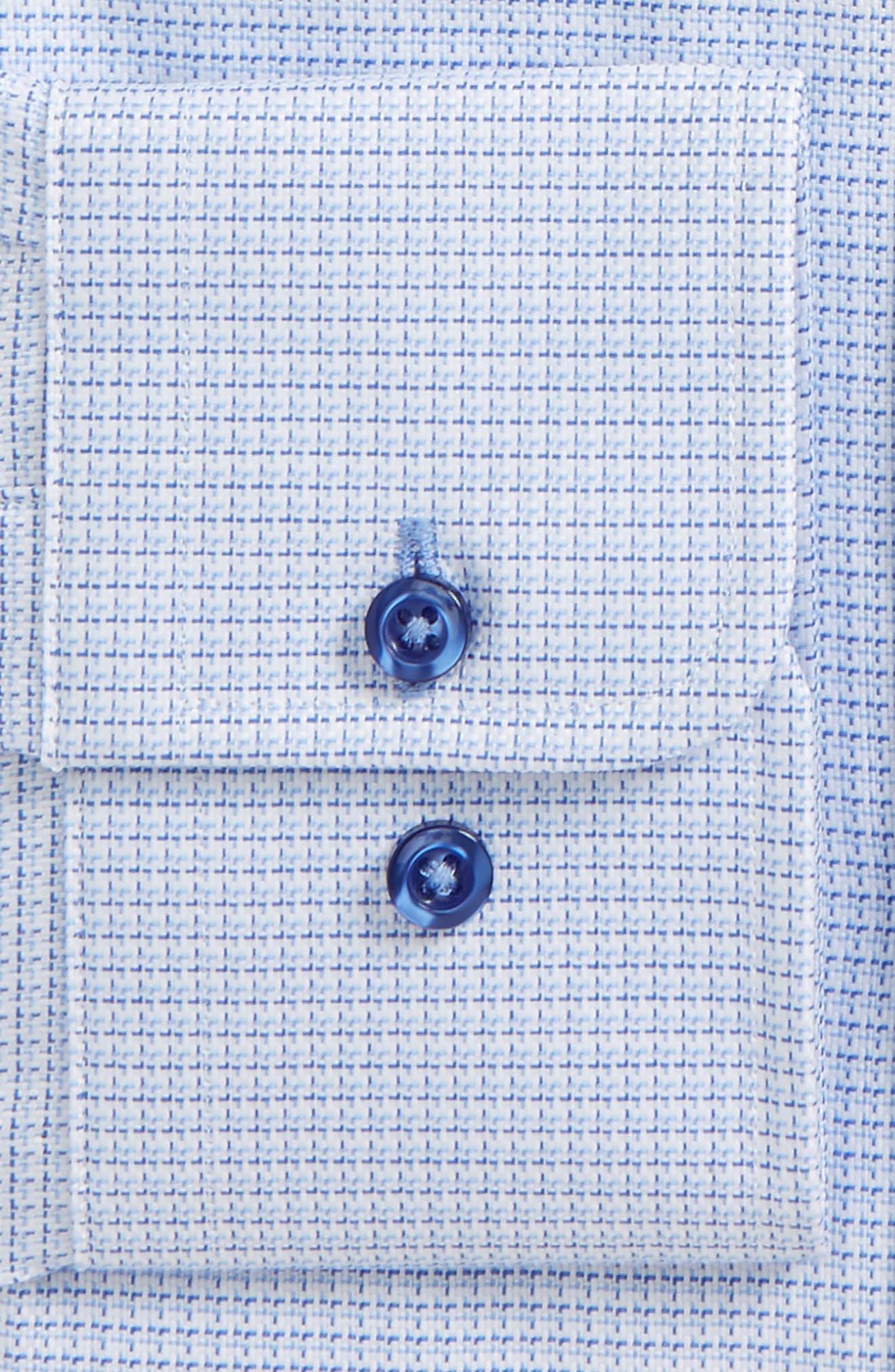 DAVID DONAHUE, Regular Fit Check Dress Shirt, Alternate thumbnail 2, color, BLUE