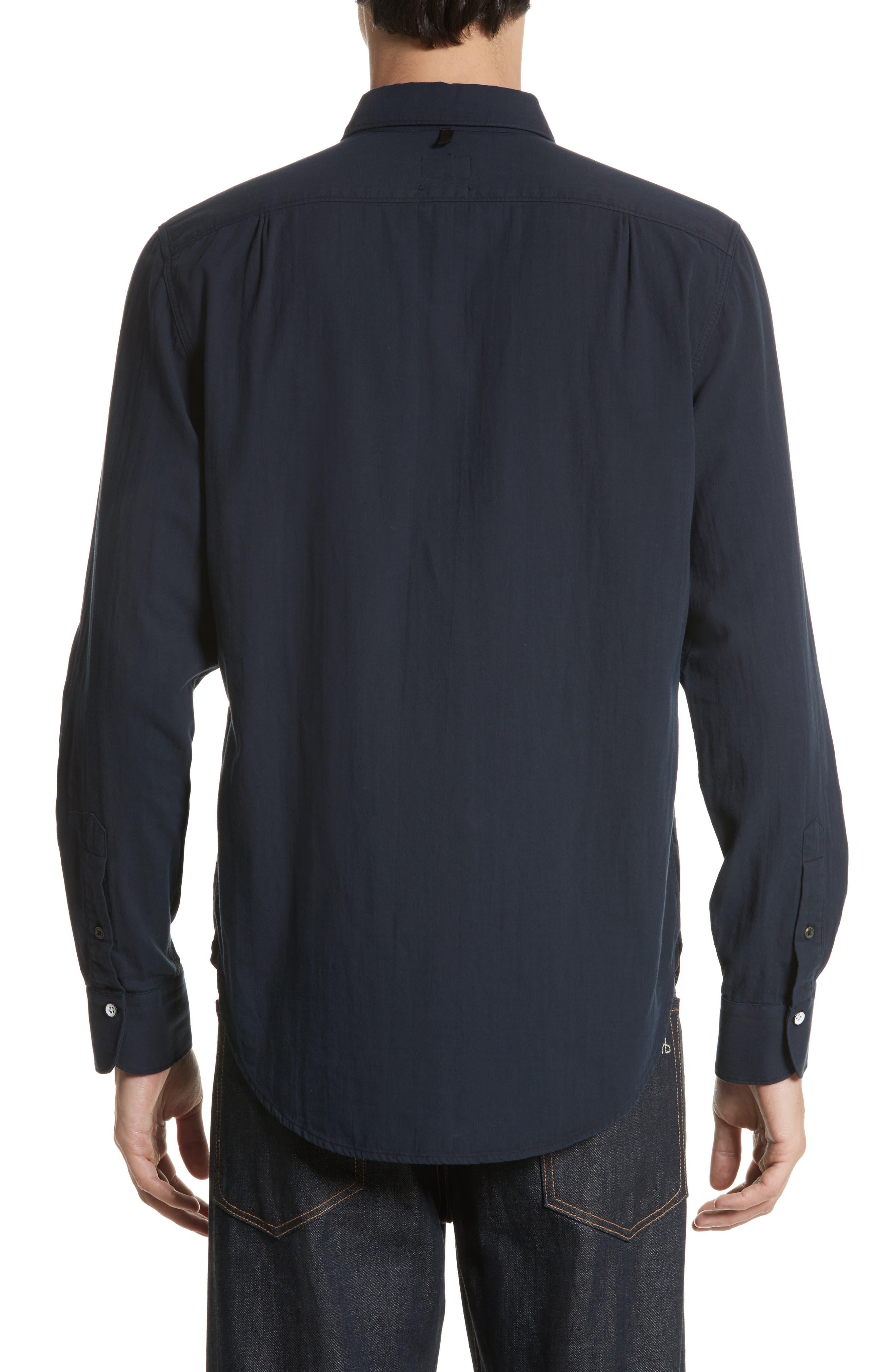 RAG & BONE, Standard Issue Solid Sport Shirt, Alternate thumbnail 3, color, 410