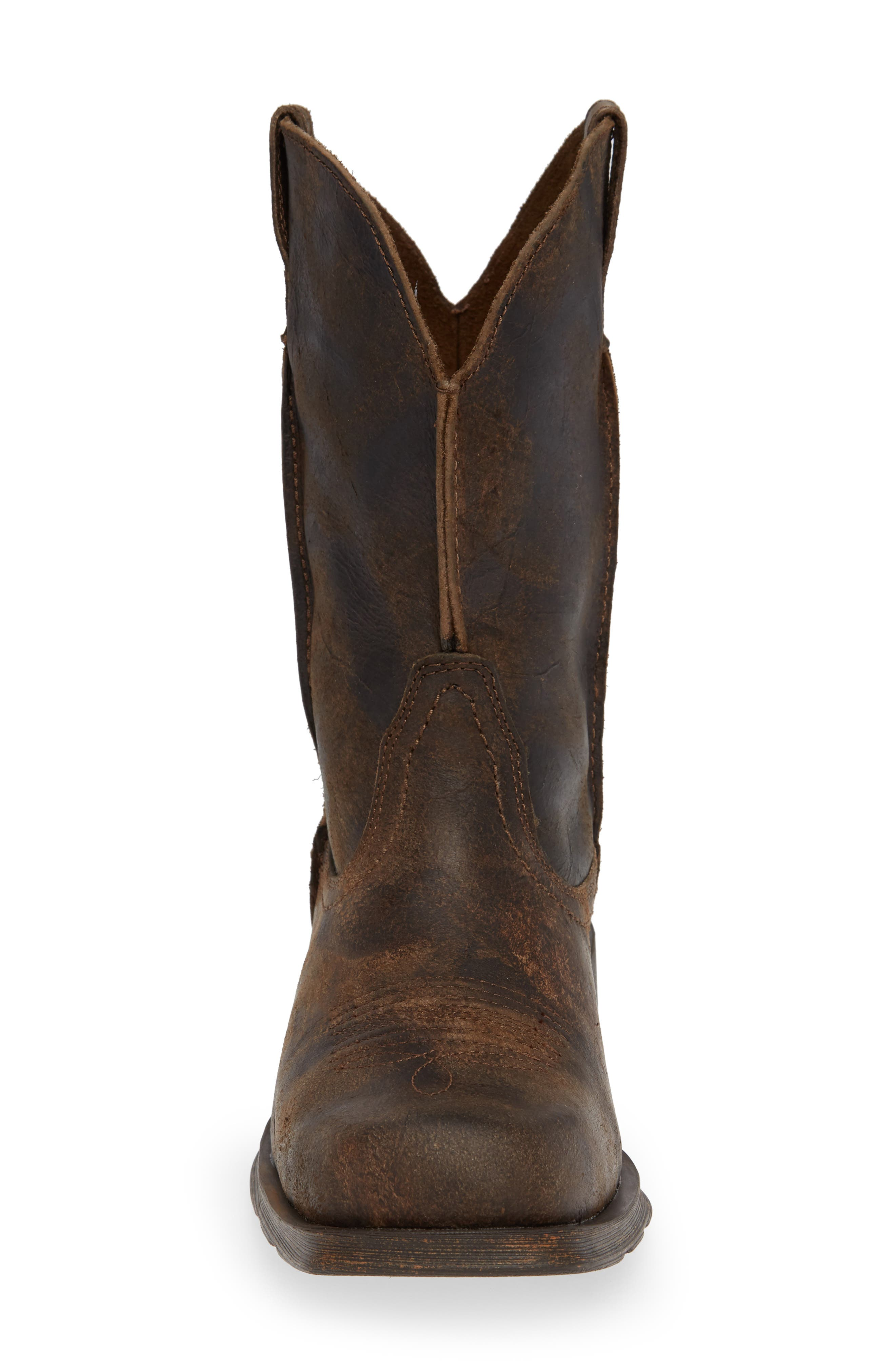 ARIAT, Rambler Boot, Alternate thumbnail 4, color, ANTIQUE GREY LEATHER