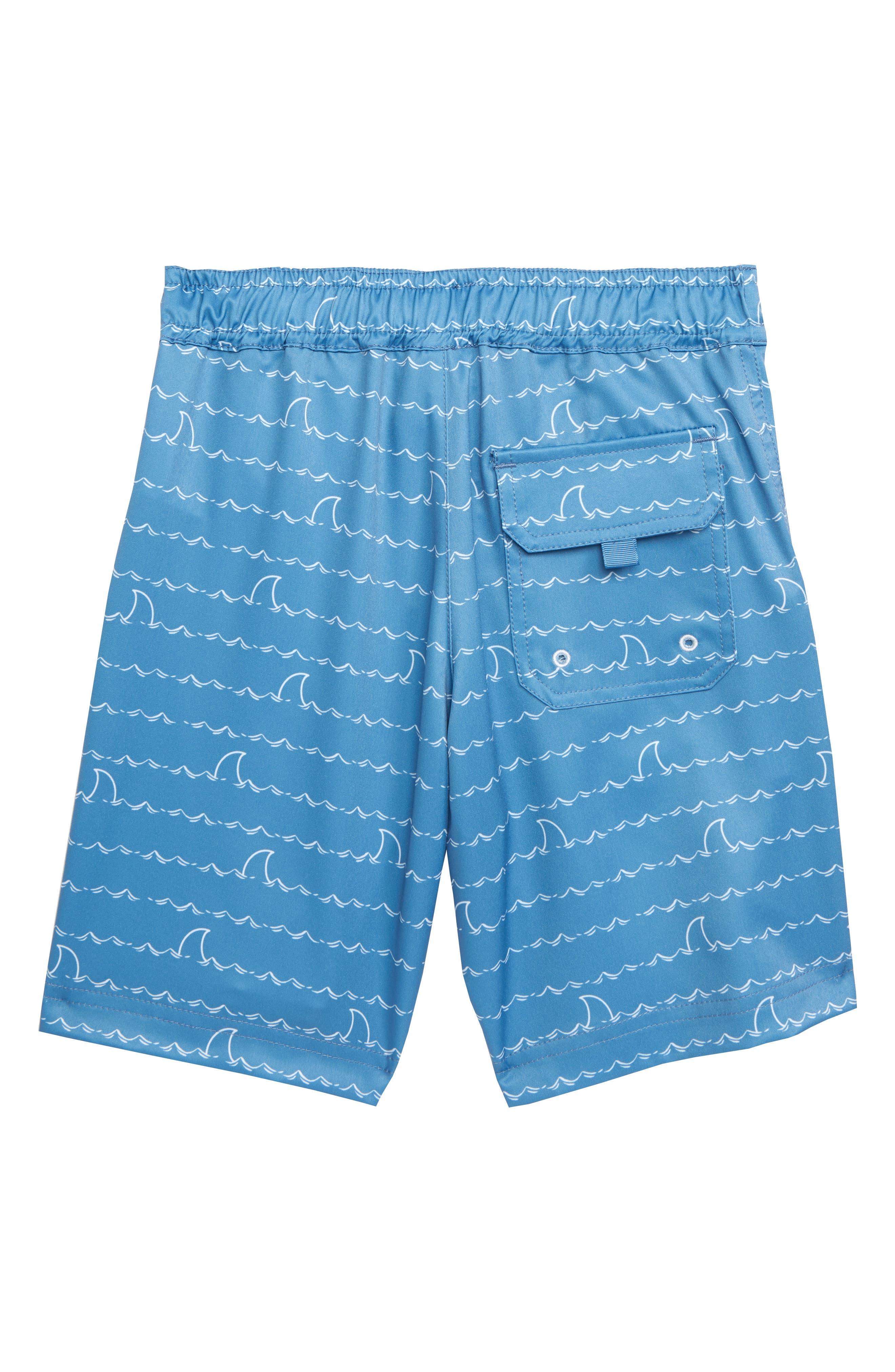 HATLEY, Shark Fin Quick Drying Shorts, Alternate thumbnail 2, color, 400