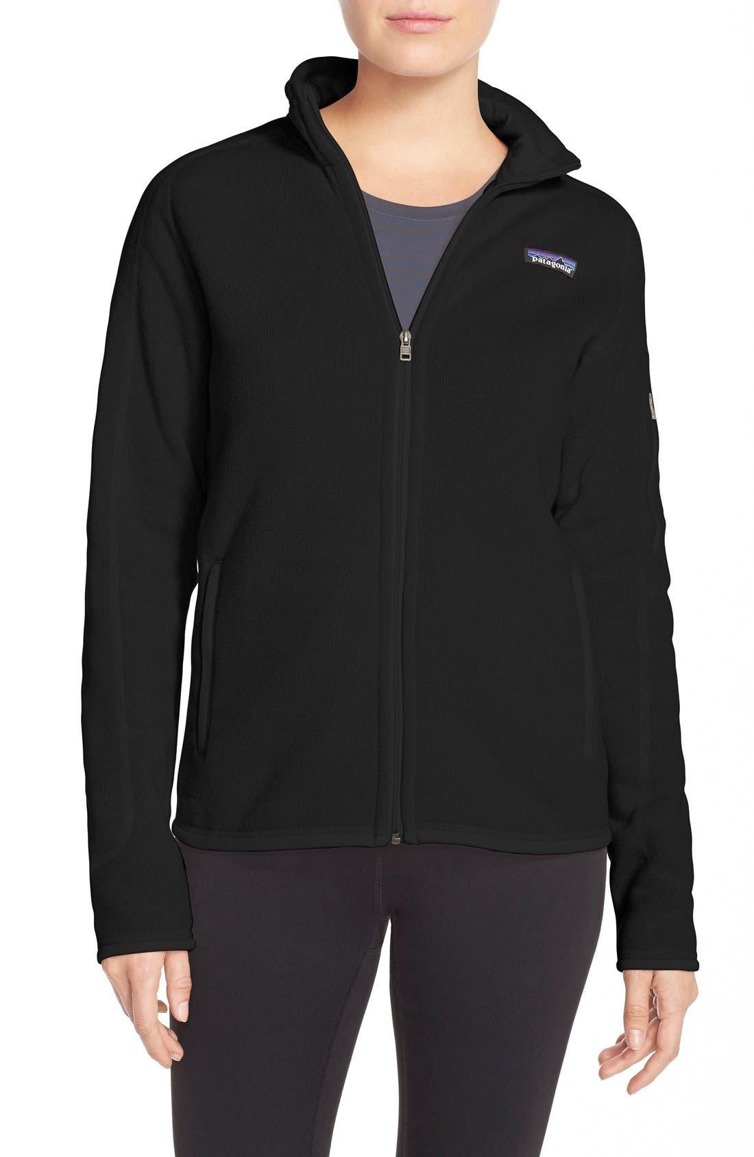 PATAGONIA, 'BetterSweater' Jacket, Main thumbnail 1, color, BLACK