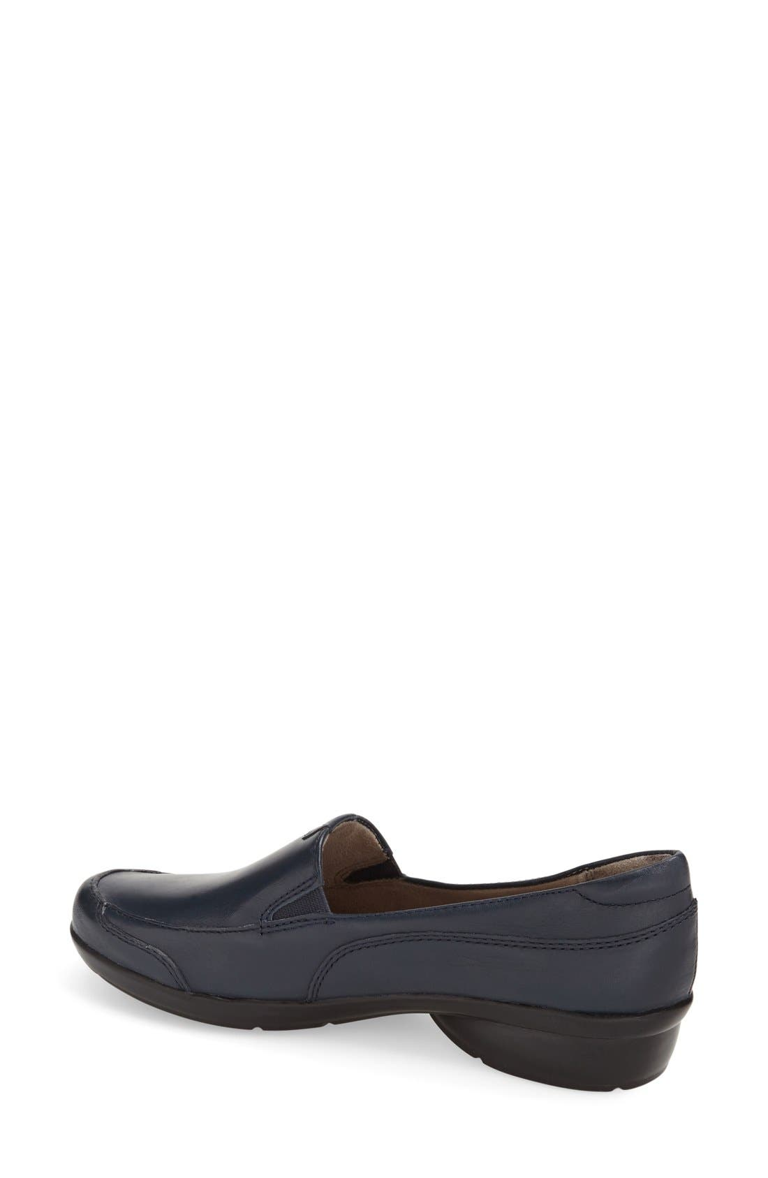 NATURALIZER, 'Channing' Loafer, Alternate thumbnail 2, color, NAVY