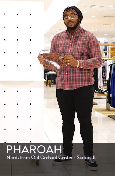Sac Maelys Python Embossed Leather Crossbody Bag, sales video thumbnail