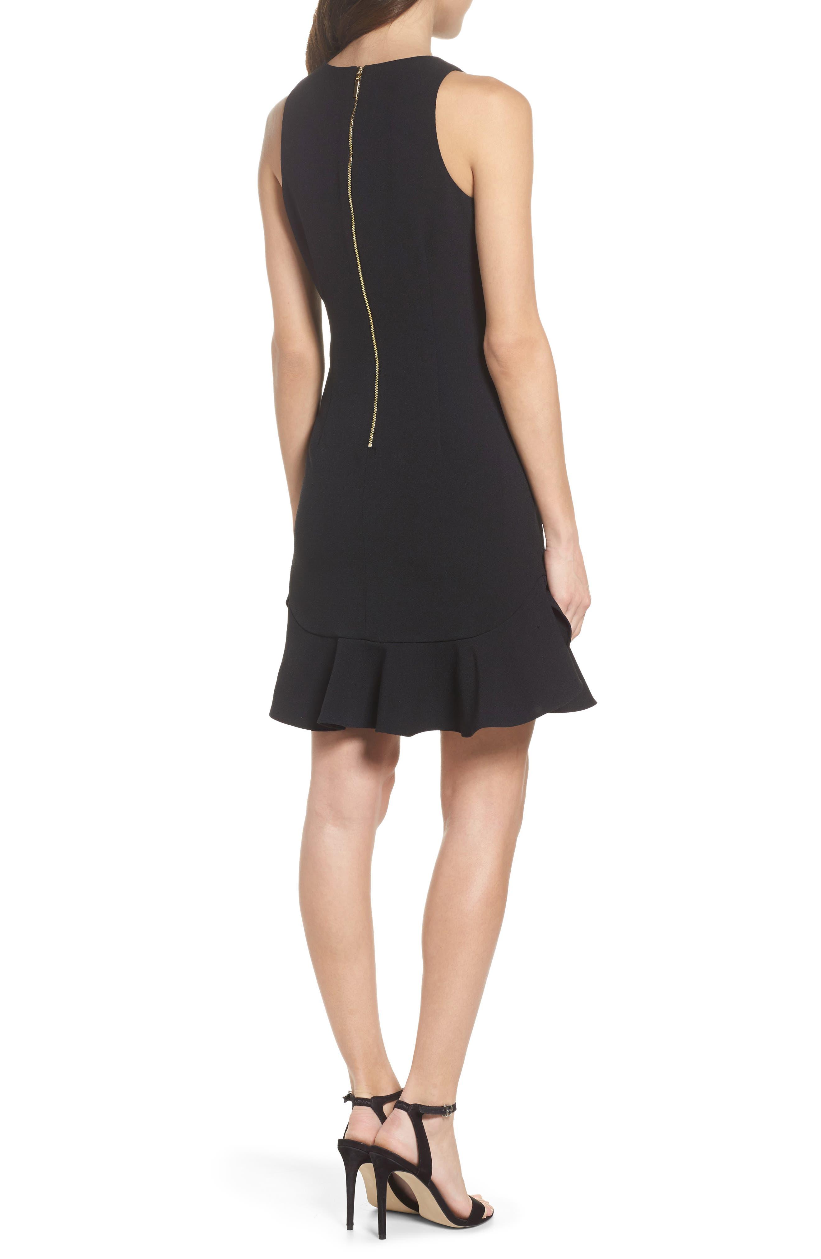 CHELSEA28, Tiered Ruffle Hem Mini Dress, Alternate thumbnail 2, color, 001