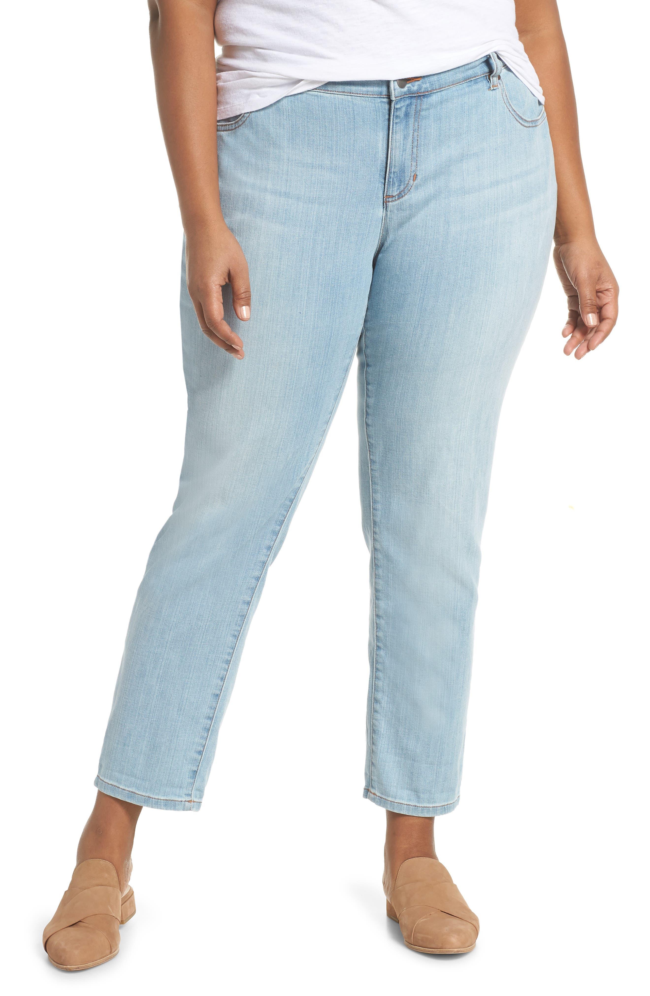 EILEEN FISHER Boyfriend Jeans, Main, color, 457