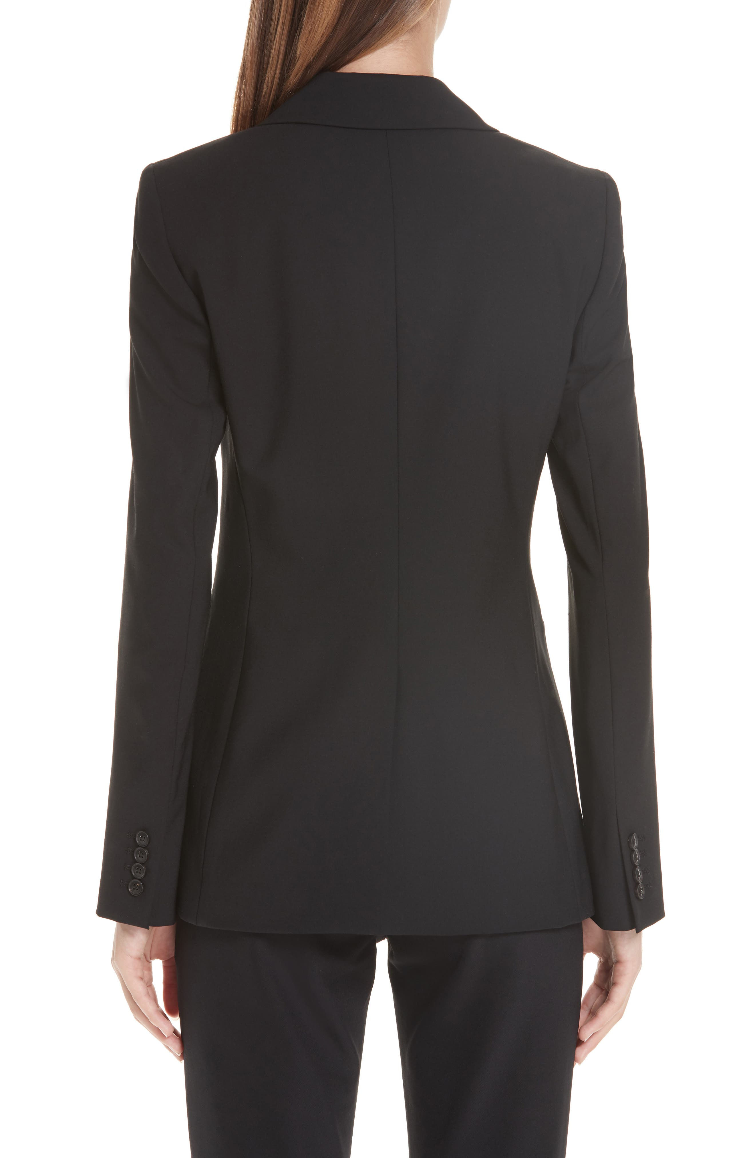 LAFAYETTE 148 NEW YORK, Charice Stretch Wool Jacket, Alternate thumbnail 2, color, BLACK