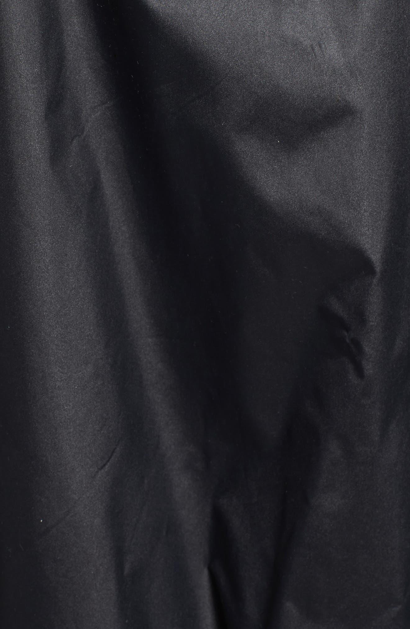 MODERN ETERNITY, Waterproof Convertible 3-in-1 Maternity Windbreaker, Alternate thumbnail 6, color, BLACK