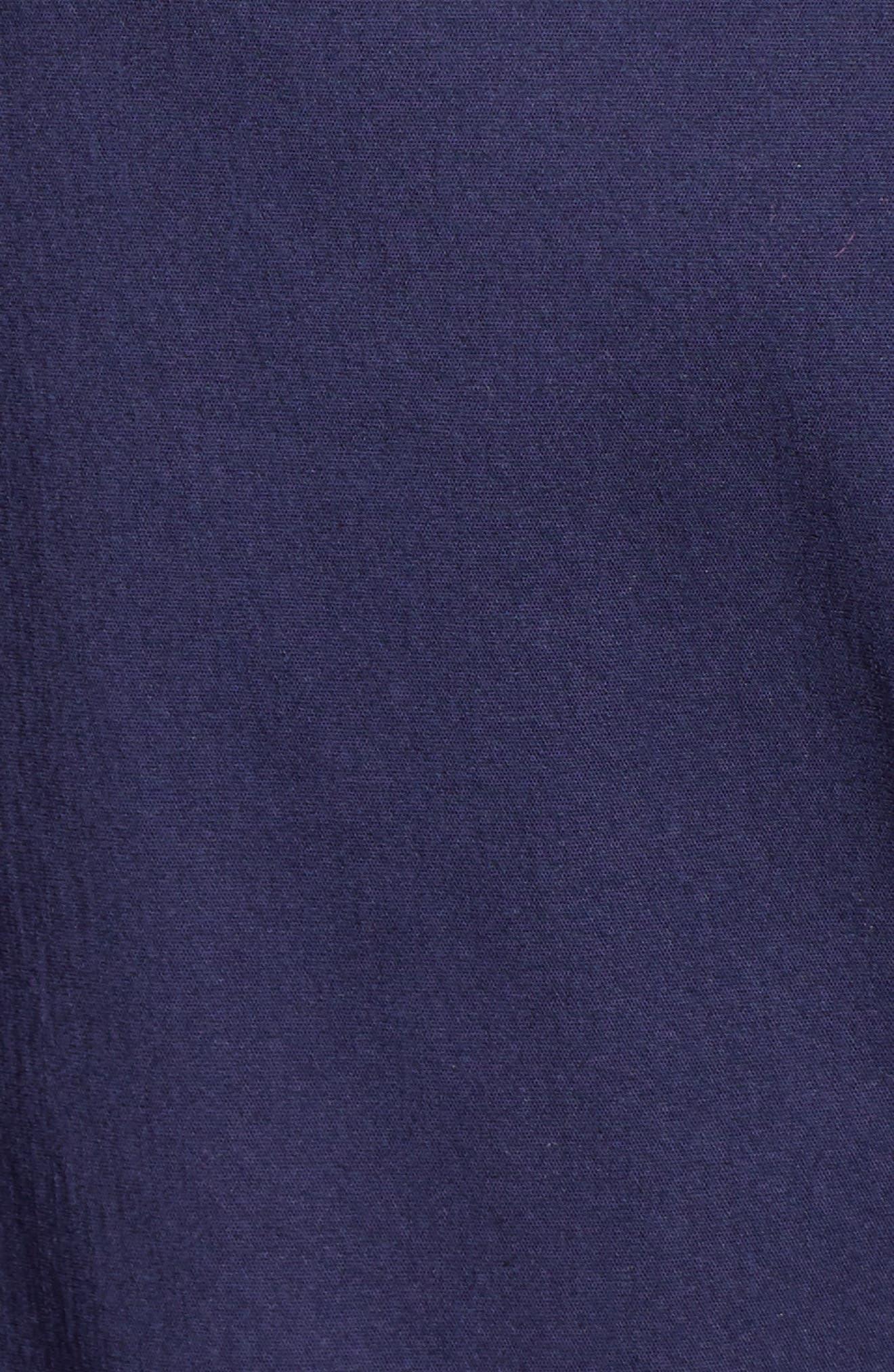 1901, Tie Front Poplin Shirt, Alternate thumbnail 6, color, NAVY PEACOAT