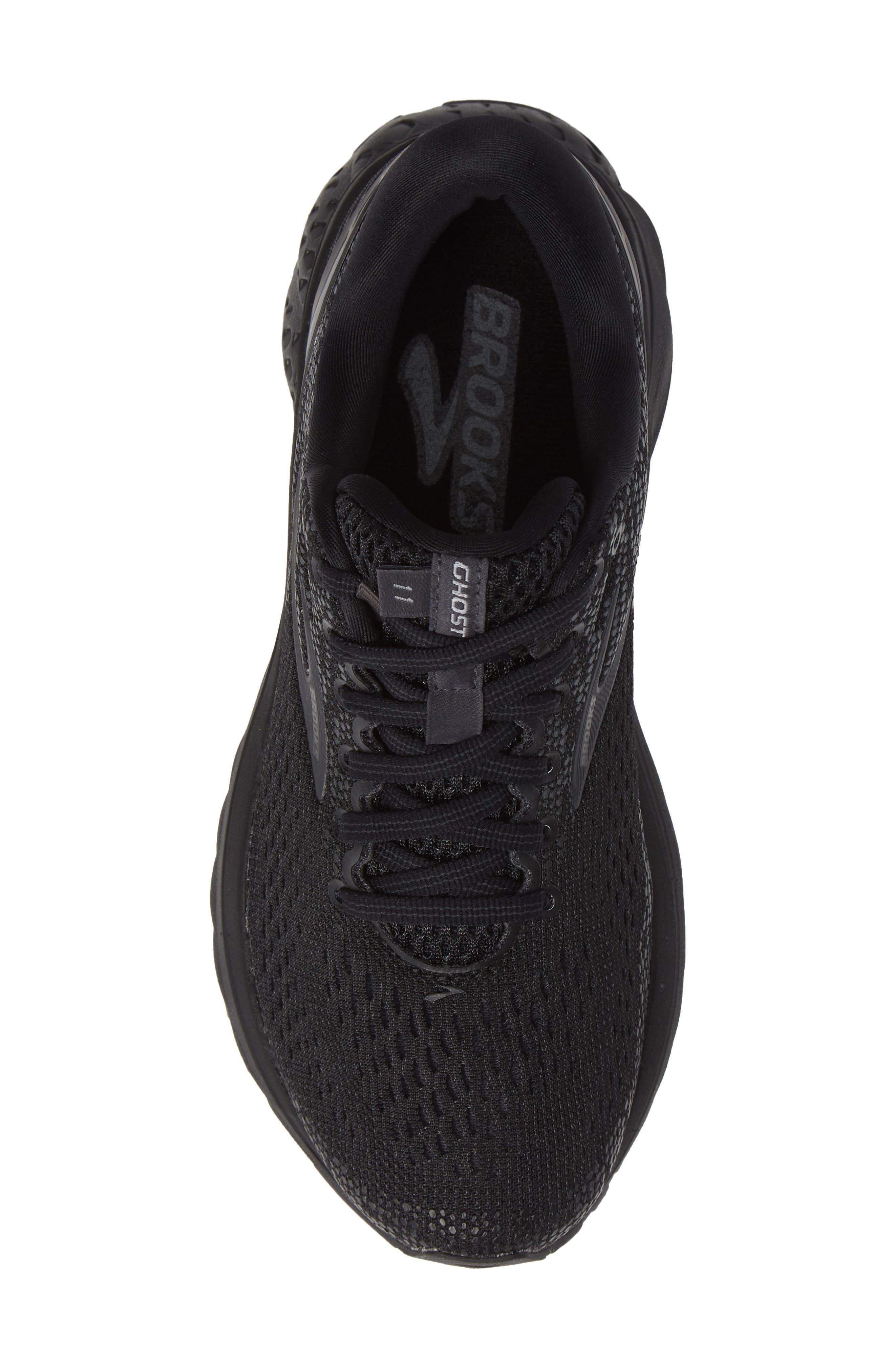 BROOKS, Ghost 11 Running Shoe, Alternate thumbnail 5, color, BLACK/ EBONY