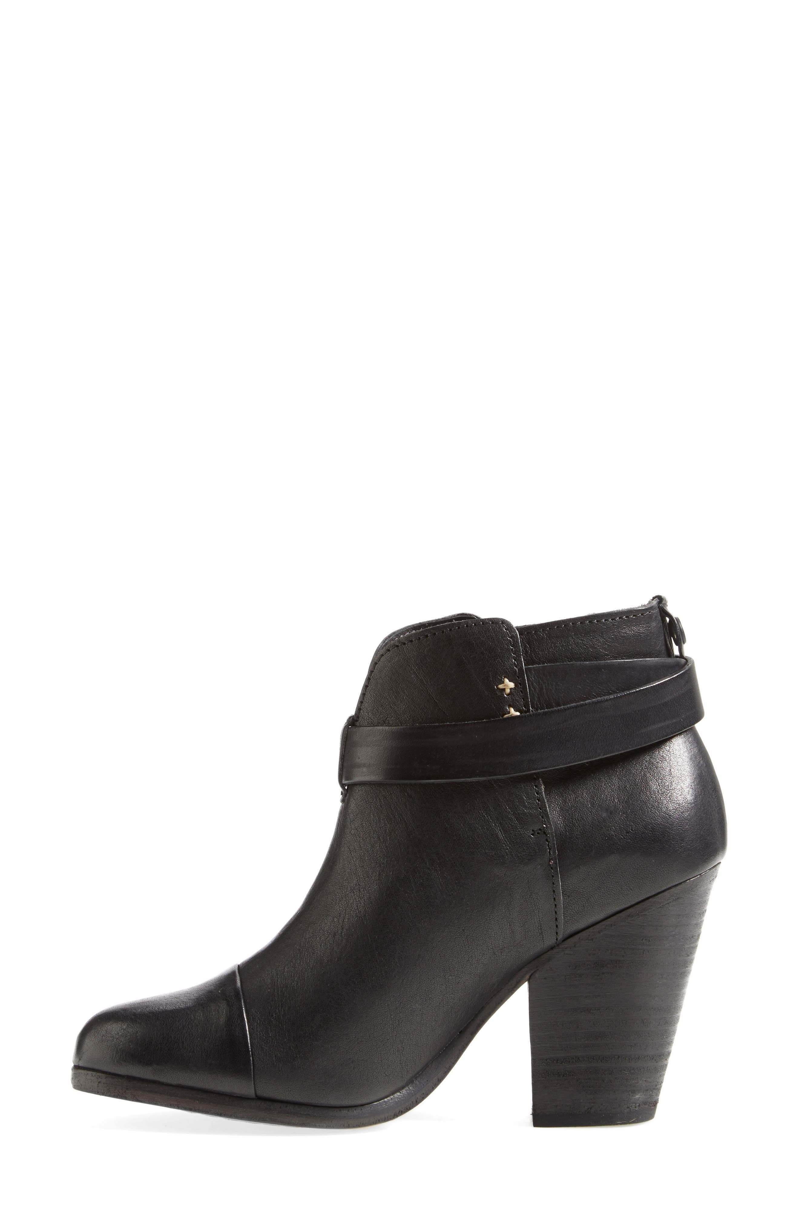 RAG & BONE, 'Harrow' Leather Boot, Alternate thumbnail 2, color, BLACK
