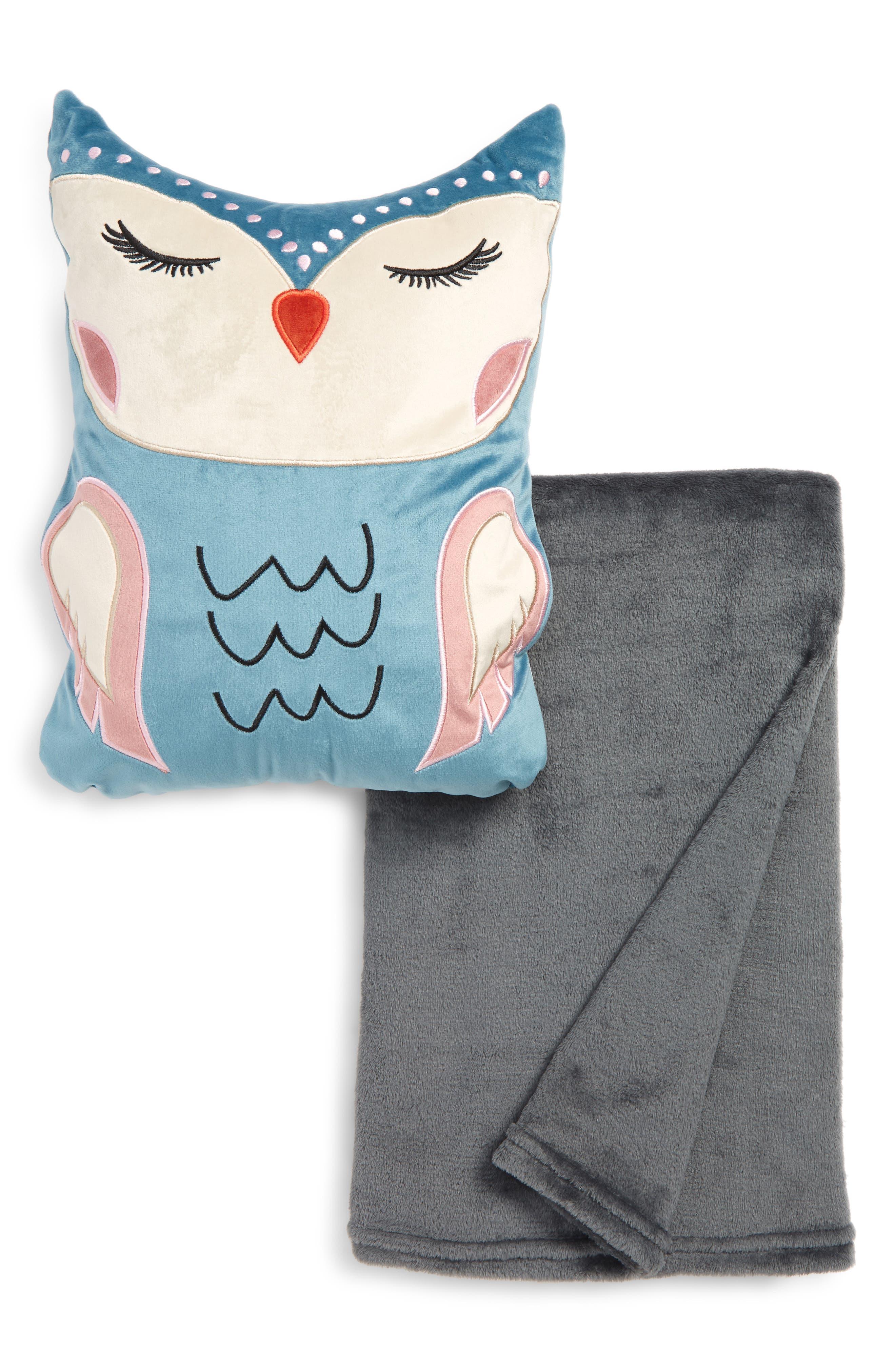 Under One Sky Critter Pillow  Throw Set Size One Size  Bluegreen