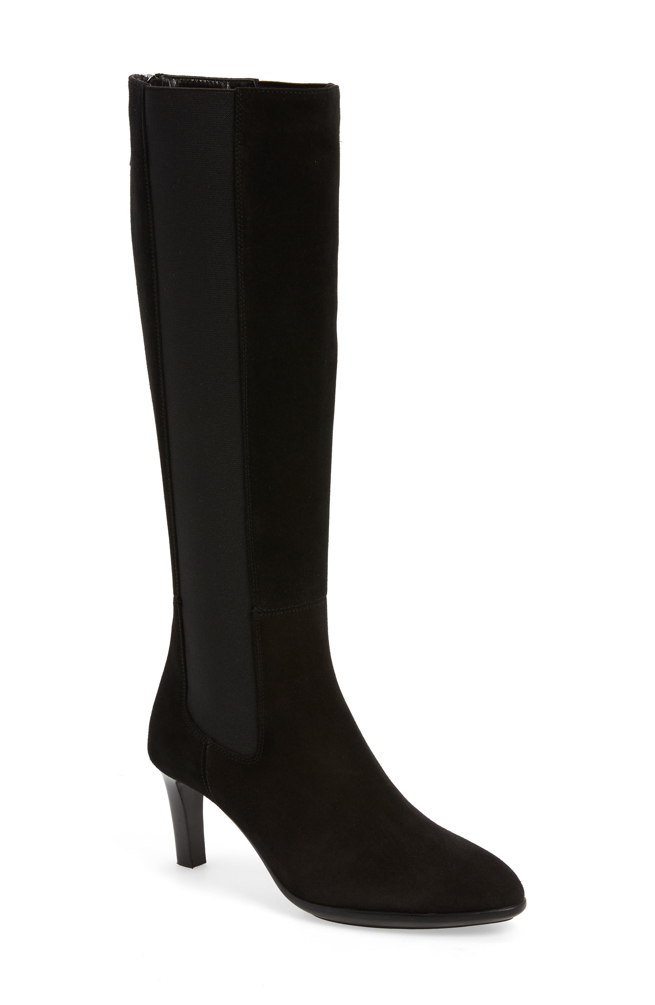 AQUATALIA Dahliana Weatherproof Knee High Boot, Main, color, BLACK