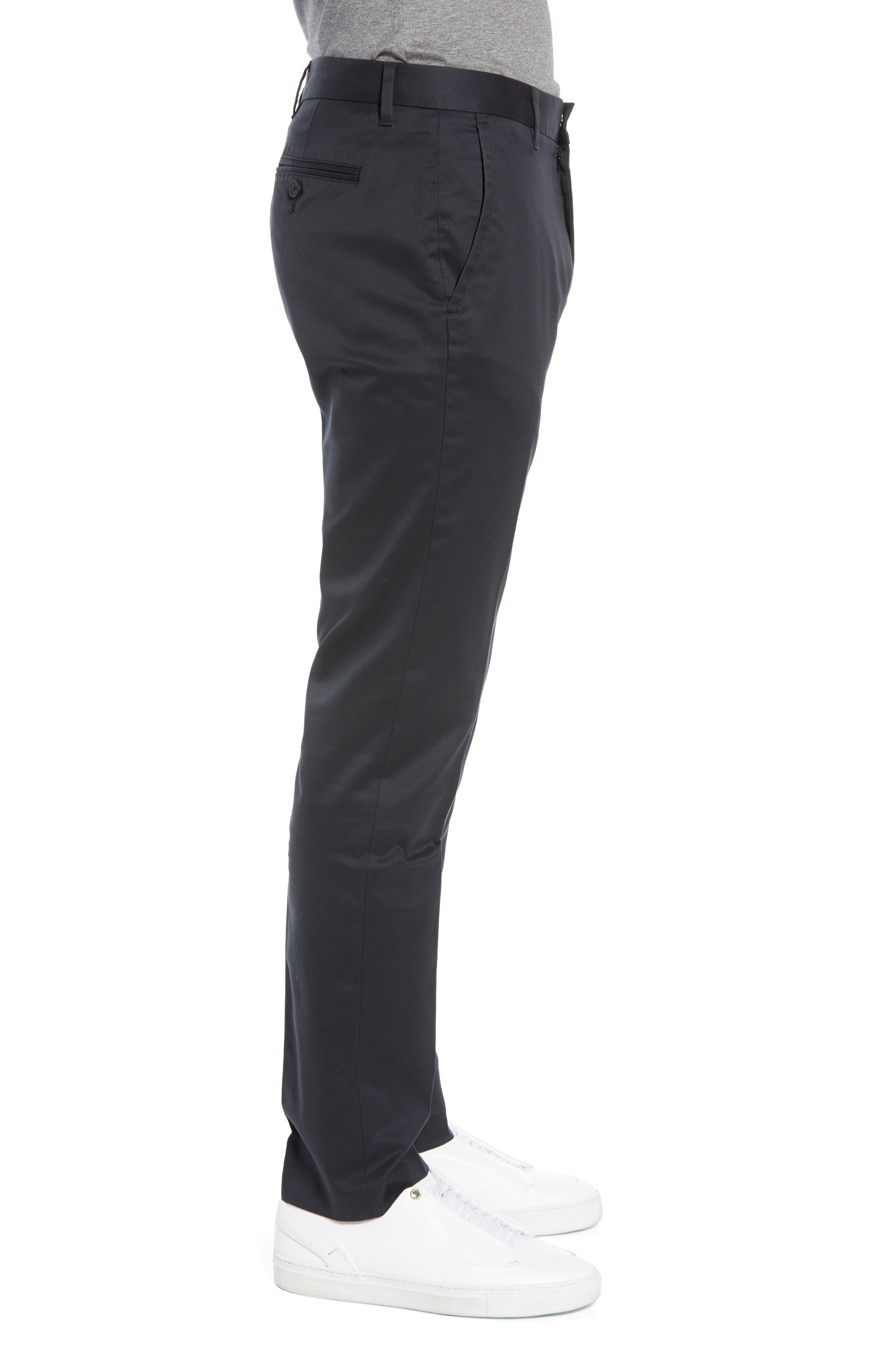 BONOBOS, Weekday Warrior Tailored Fit Stretch Dress Pants, Alternate thumbnail 4, color, BLACK