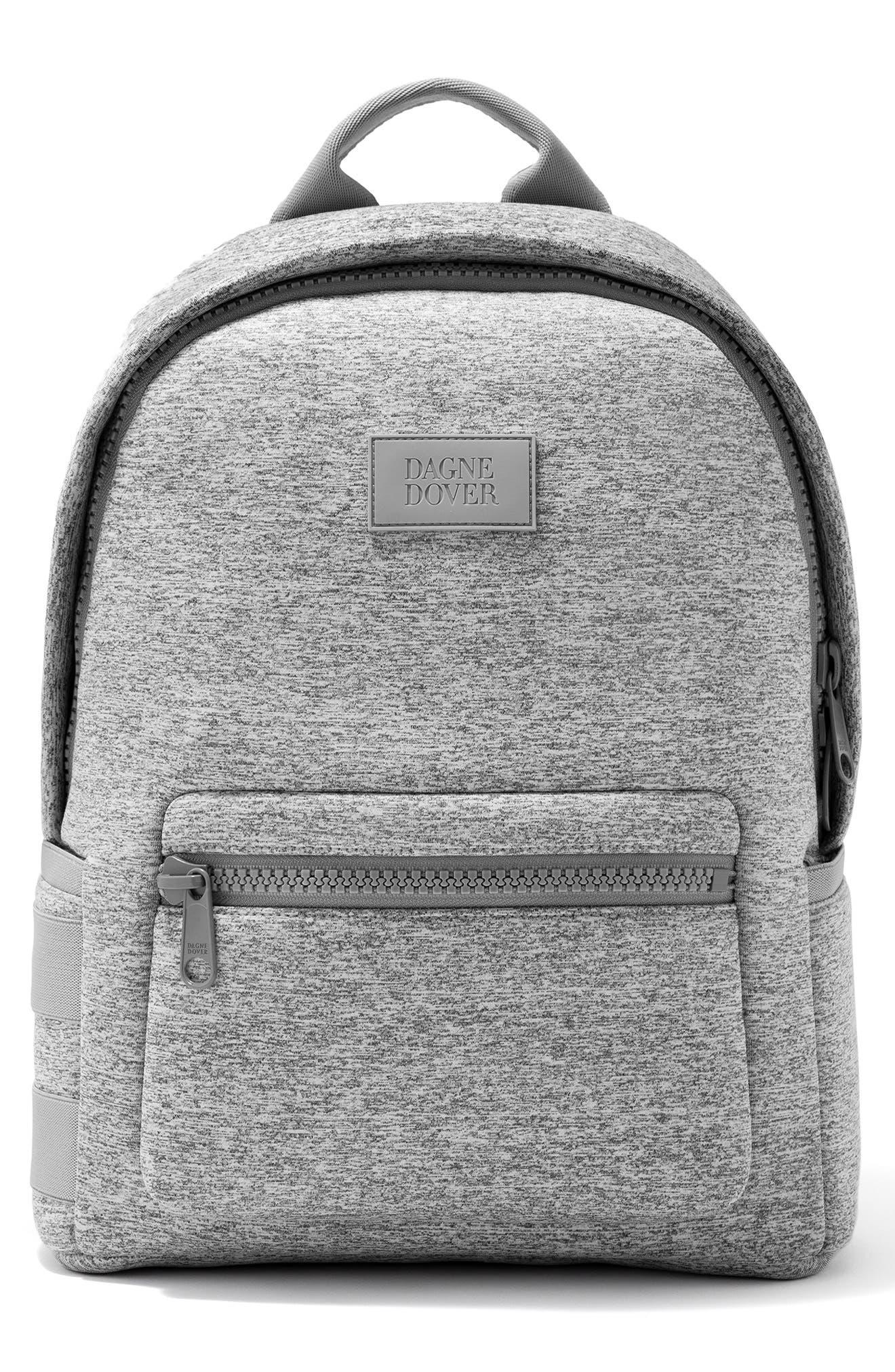 DAGNE DOVER, 365 Dakota Neoprene Backpack, Main thumbnail 1, color, HEATHER GREY